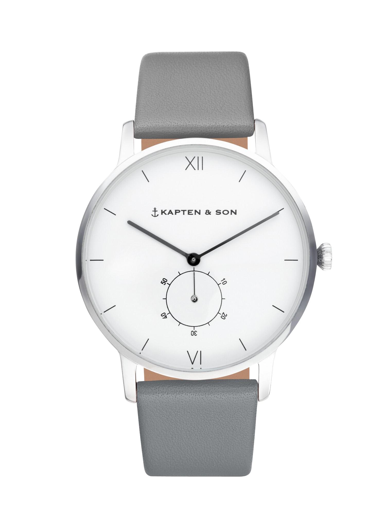 Analogové hodinky Heritage Silver šedá Kapten & Son