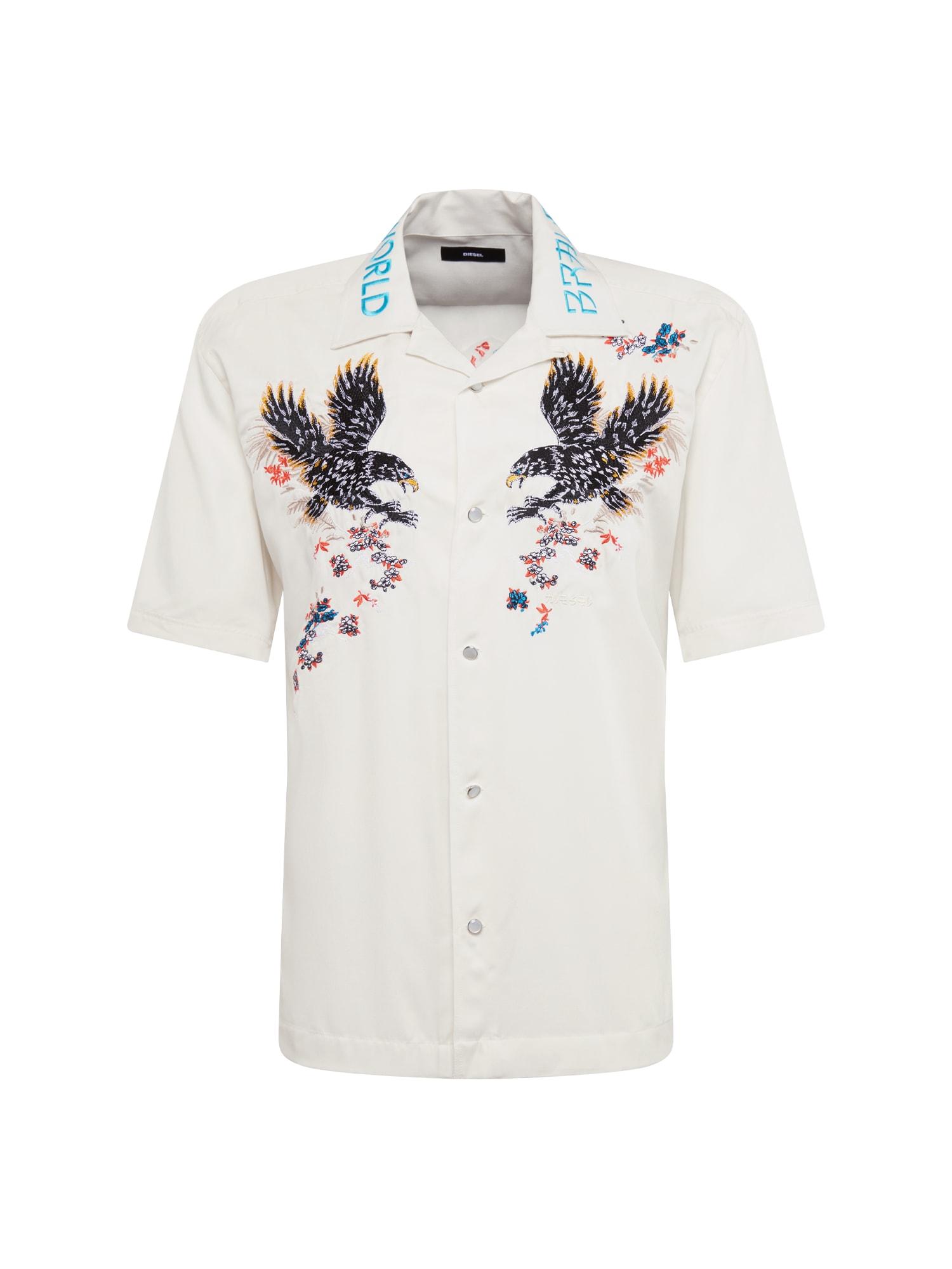 Košile S-KENTA-A HEMD krémová mix barev DIESEL