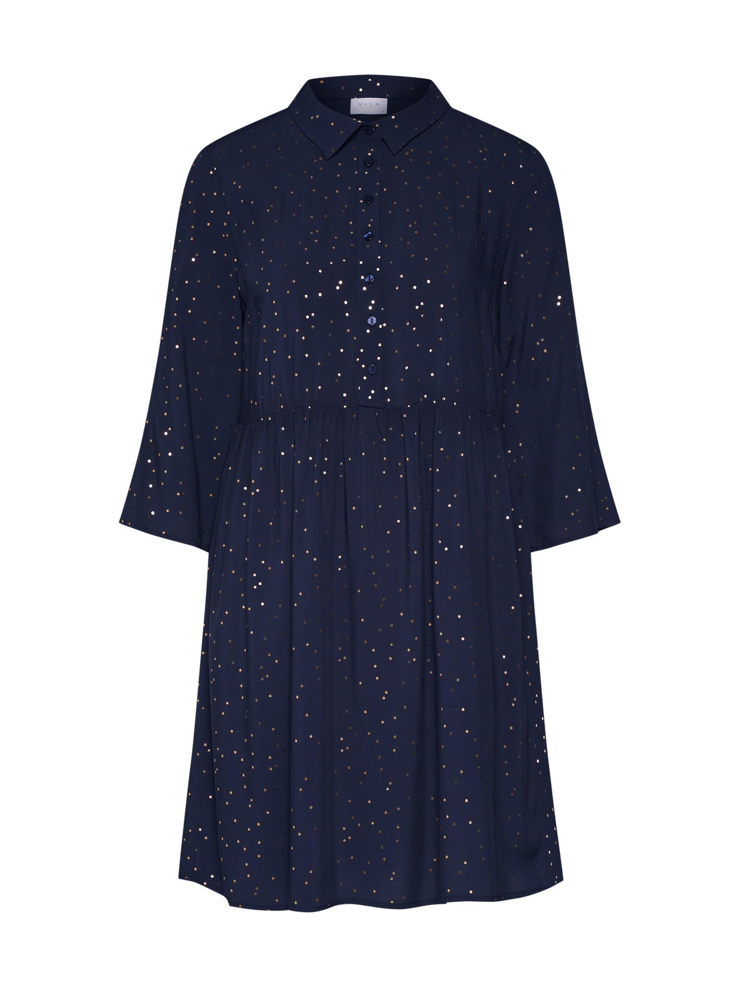 Košilové šaty VIGIULIA 34 SHORT DRESS1 noční modrá VILA