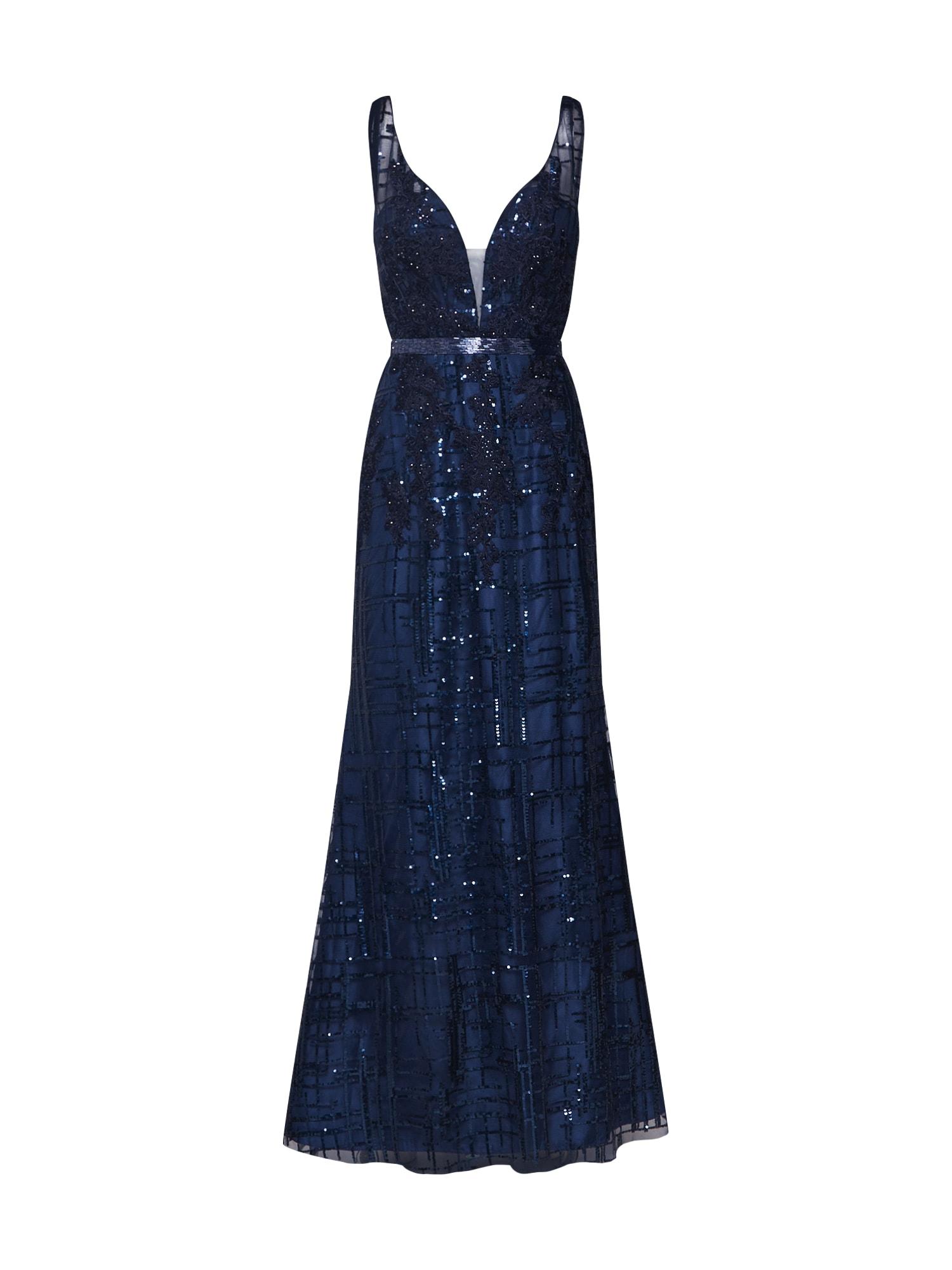 Společenské šaty modrá Unique