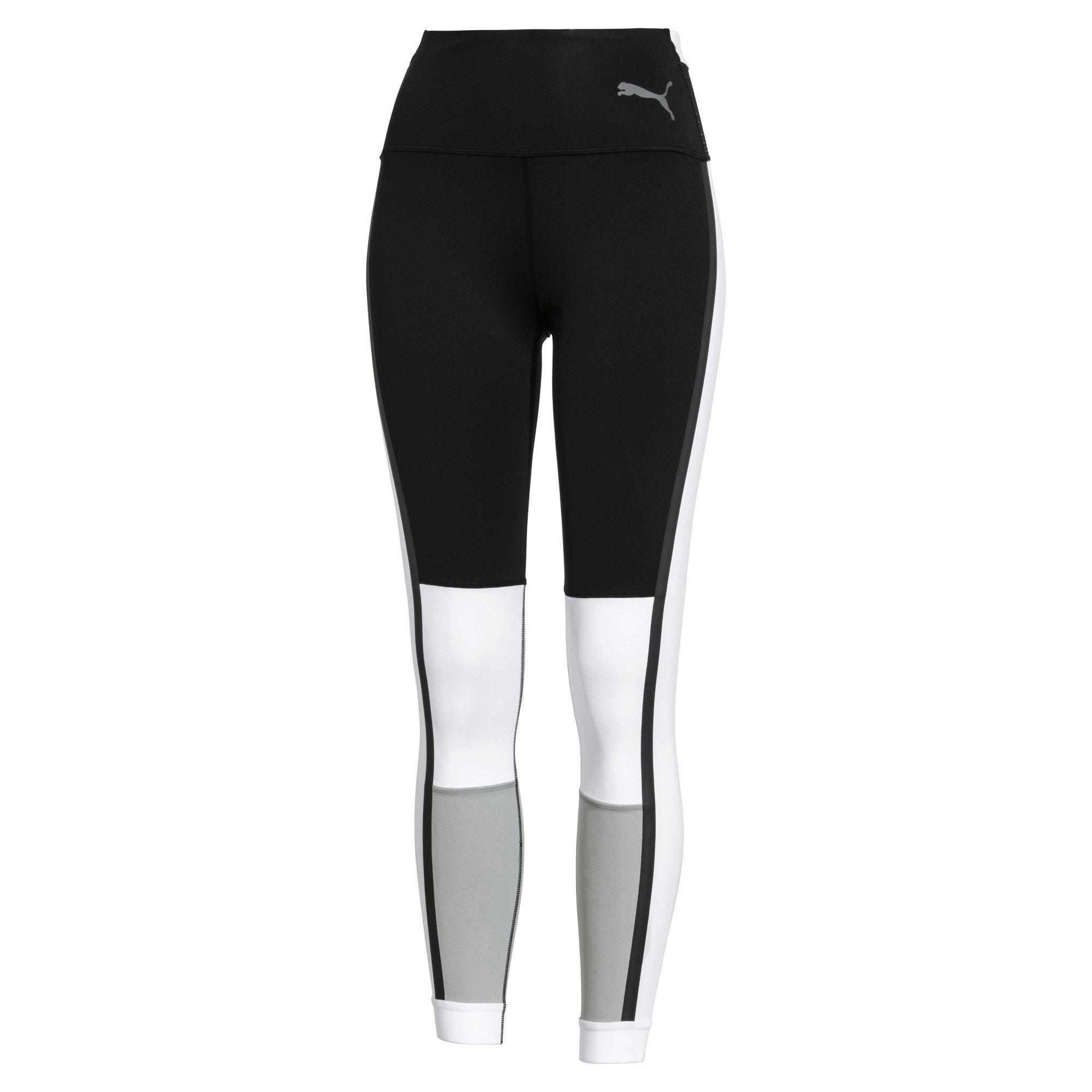Sportovní kalhoty světle šedá černá bílá PUMA