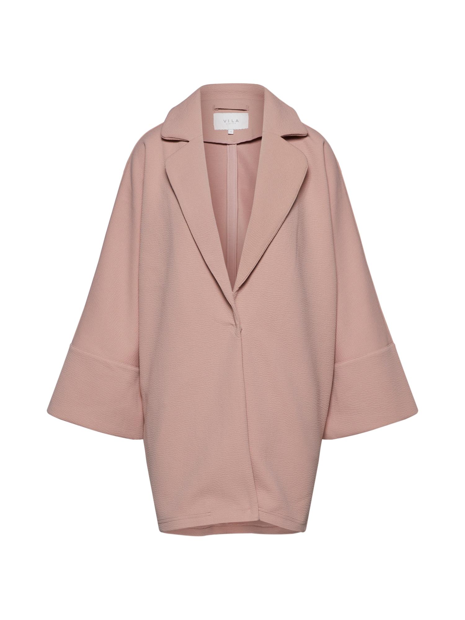 Přechodný kabát VIALLU pastelově růžová VILA