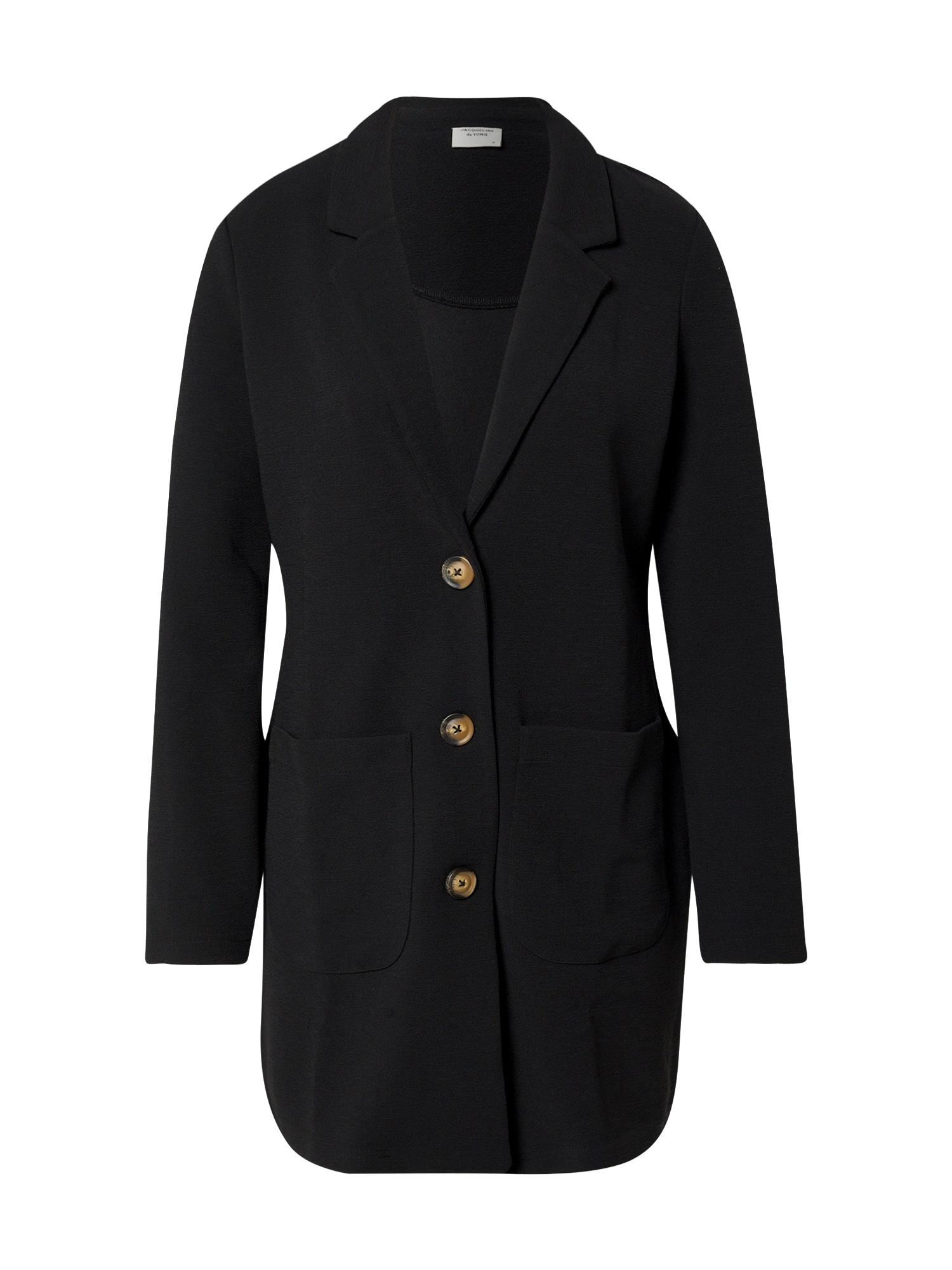 JACQUELINE De YONG Prechodný kabát 'JDYSTONE L/S SPRING JACKET JRS'  čierna