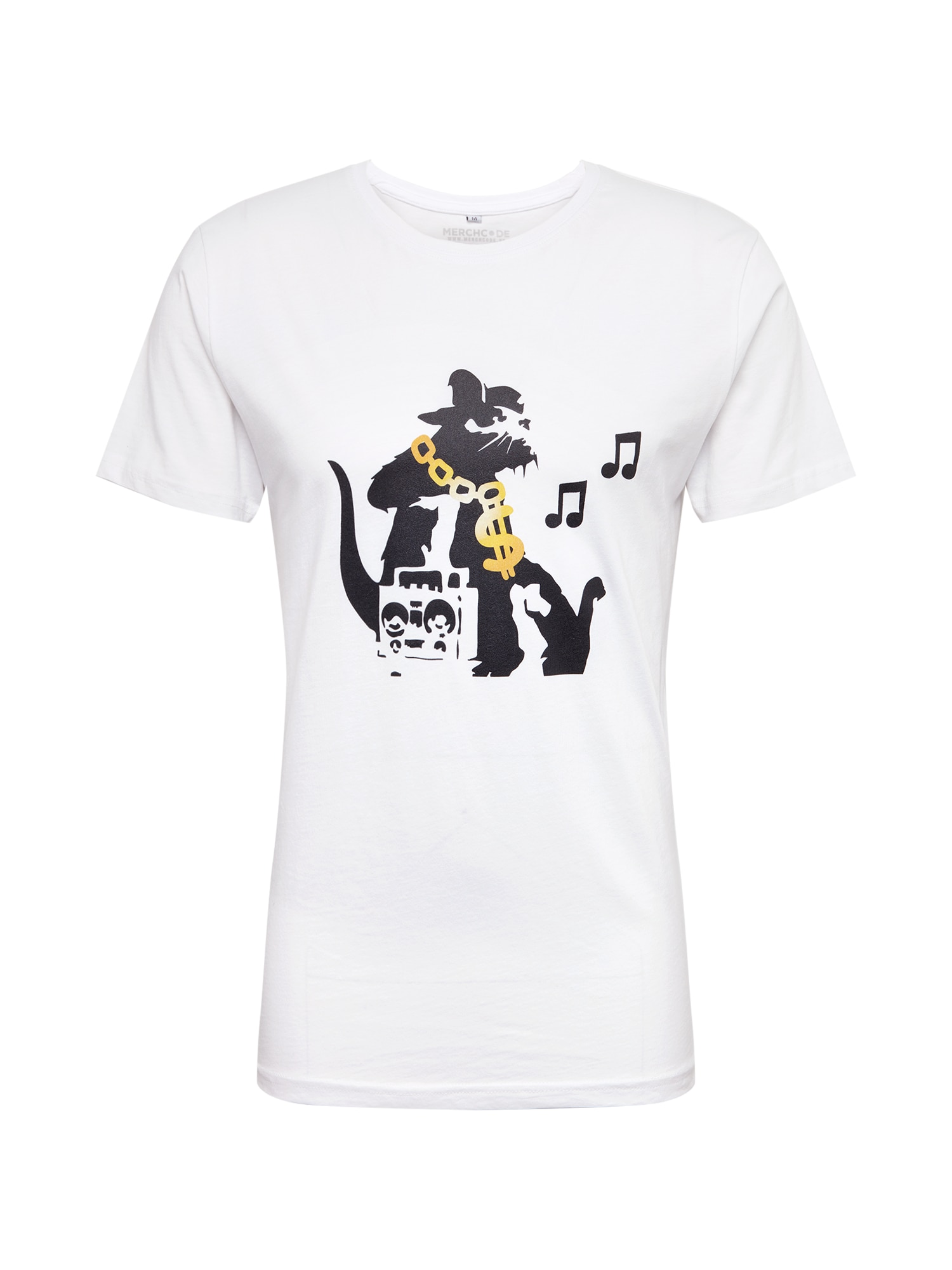 Tričko Banksy HipHop Rat Tee černá bílá Mister Tee