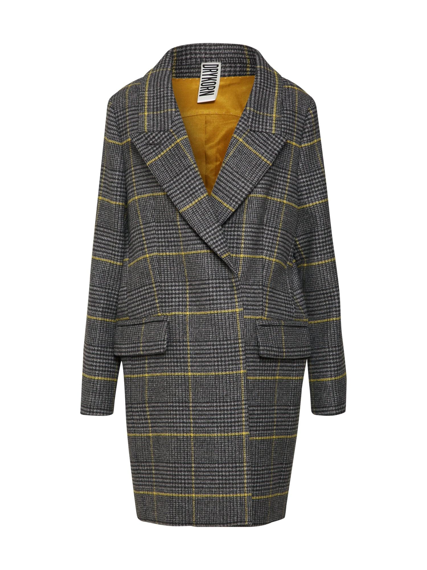 Přechodný kabát žlutá tmavě šedá DRYKORN