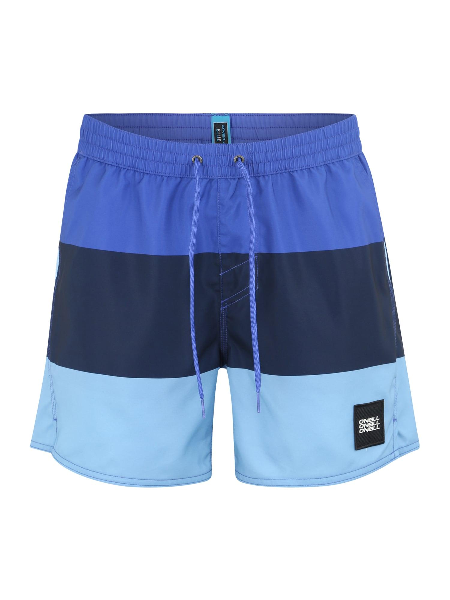 ONEILL Sportovní plavky Vert-Horizon modrá světlemodrá tmavě modrá O'NEILL