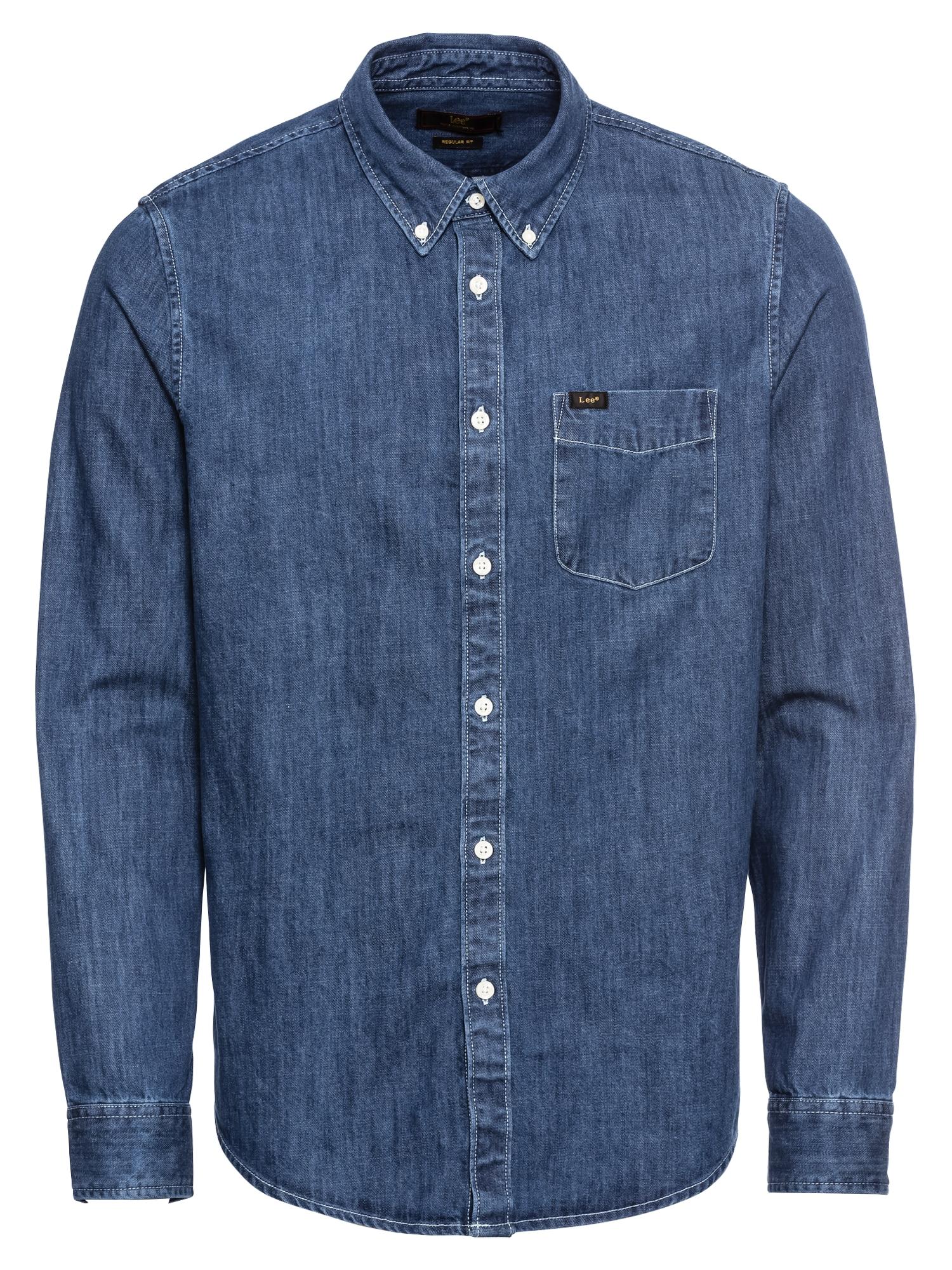 Košile modrá džínovina Lee