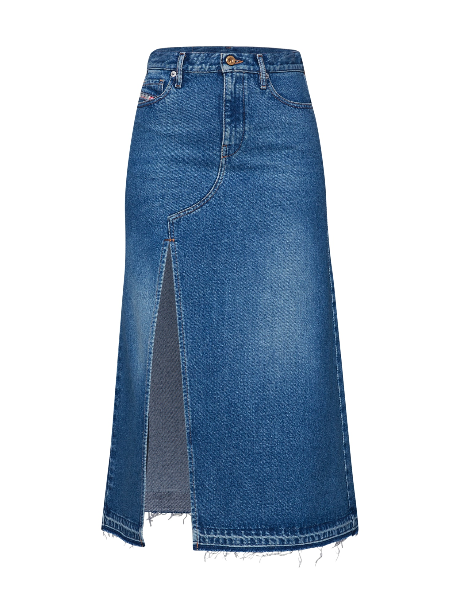 Sukně DE- Vyvien Skirt modrá džínovina DIESEL
