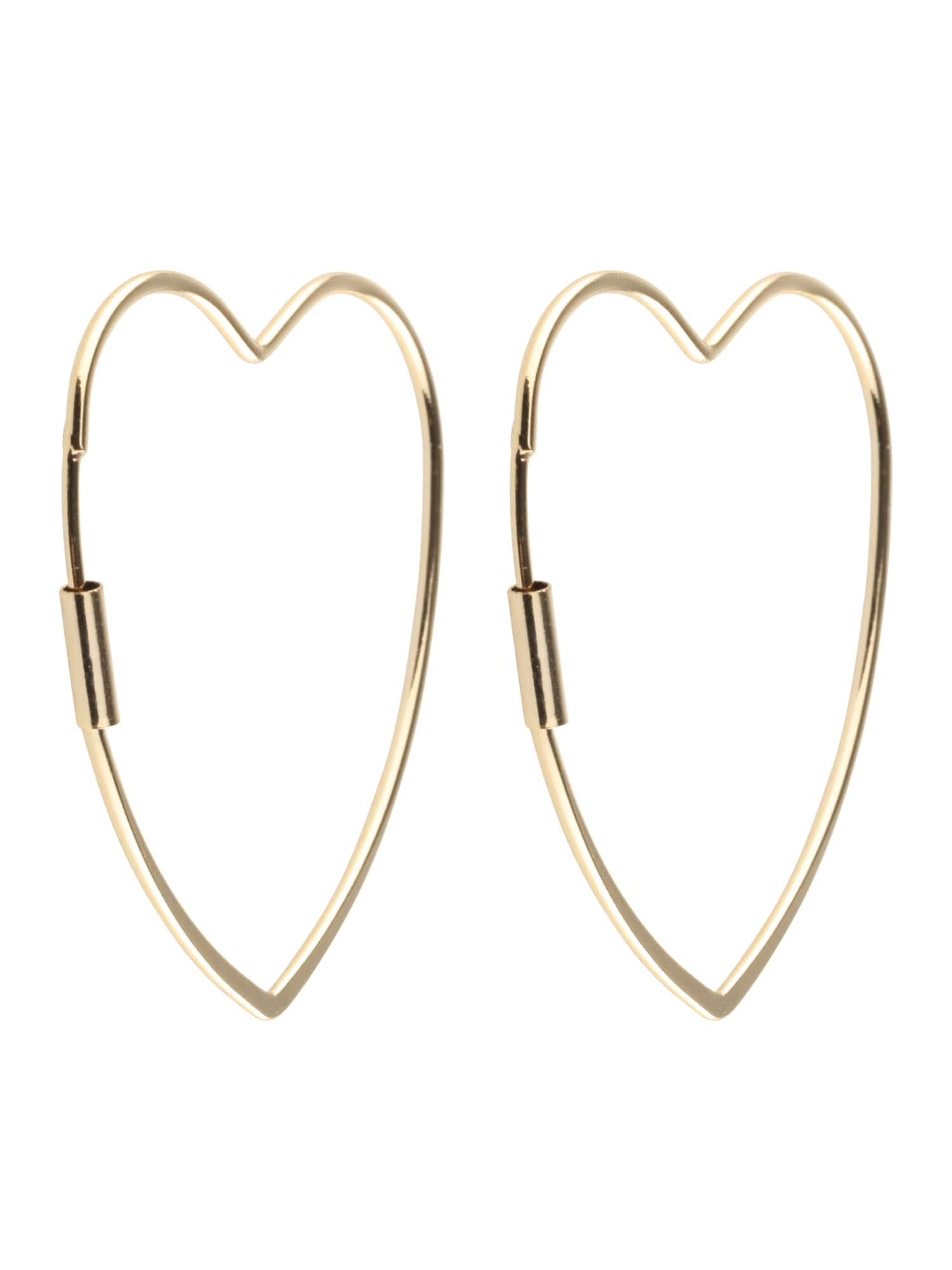 Oorbellen 'Heart Hoop Earrings'