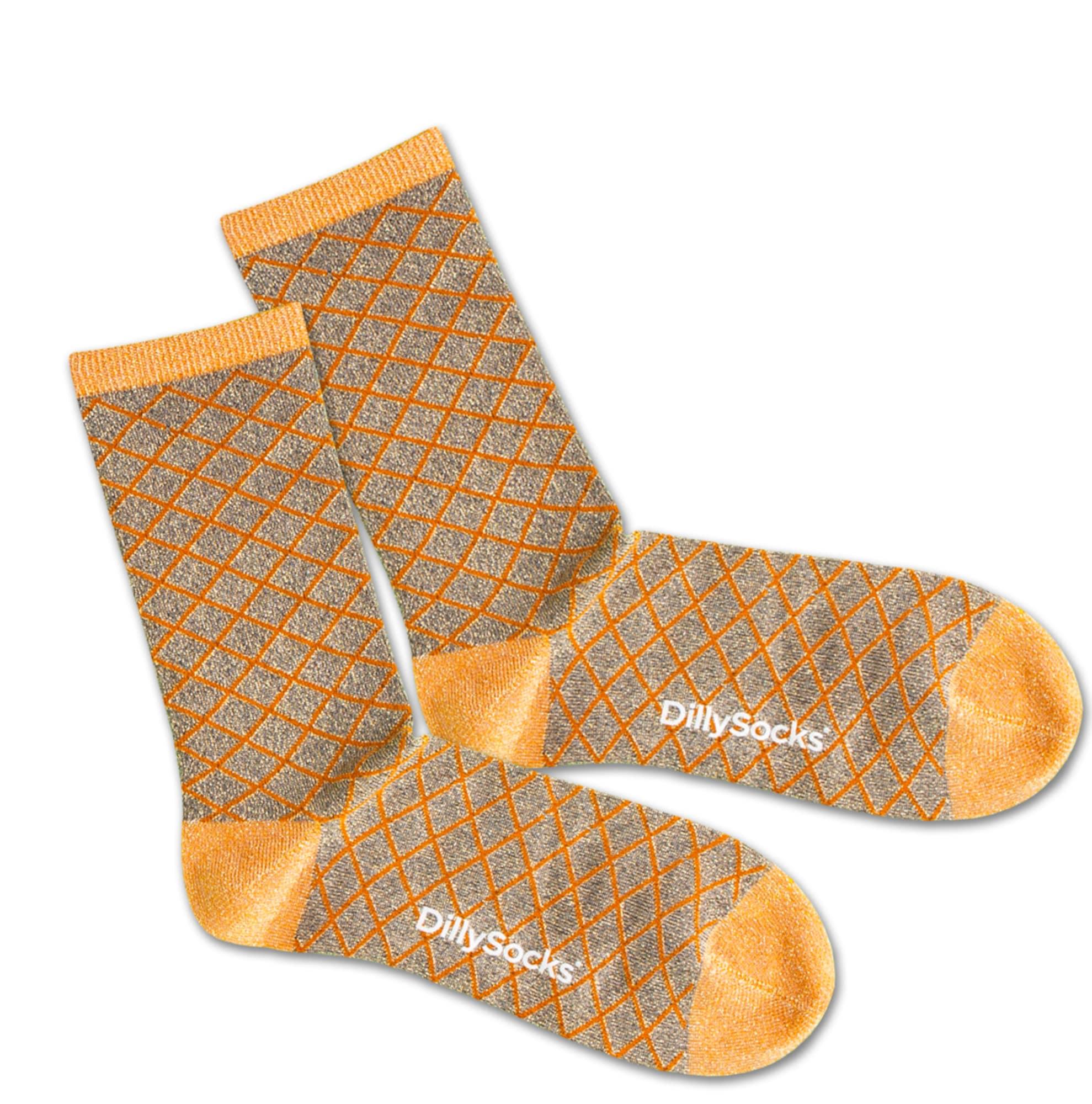 Ponožky Sweet Wire béžová stříbrná DillySocks