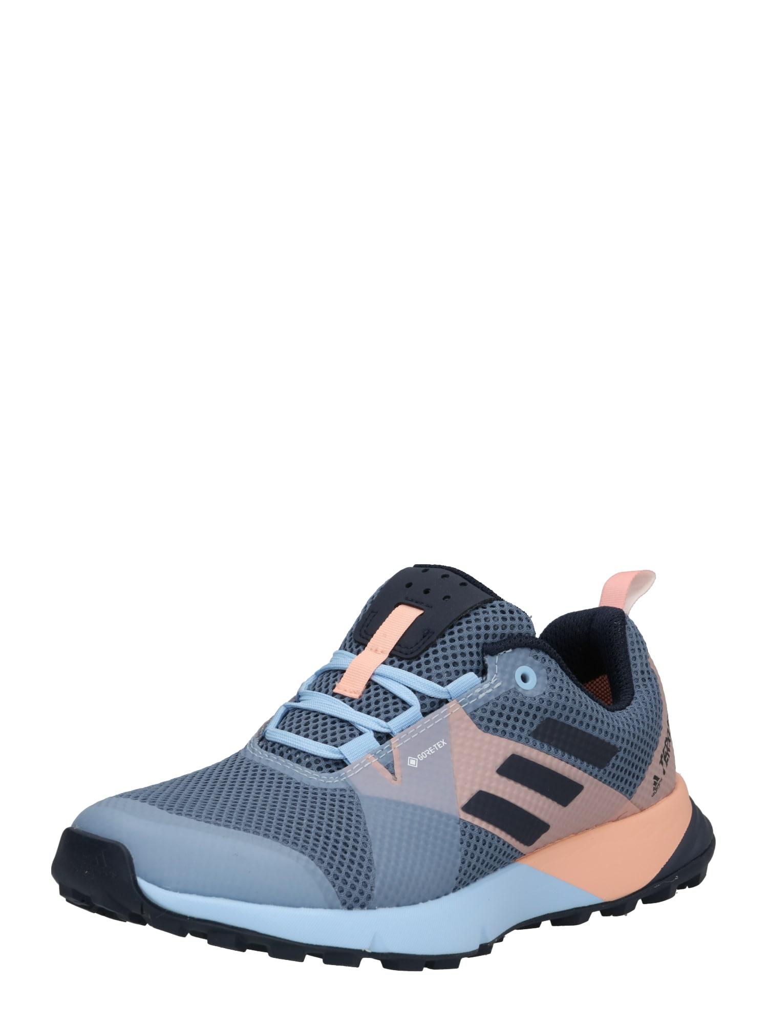Běžecká obuv TERREX TWO GTX W kouřově modrá růžová ADIDAS PERFORMANCE