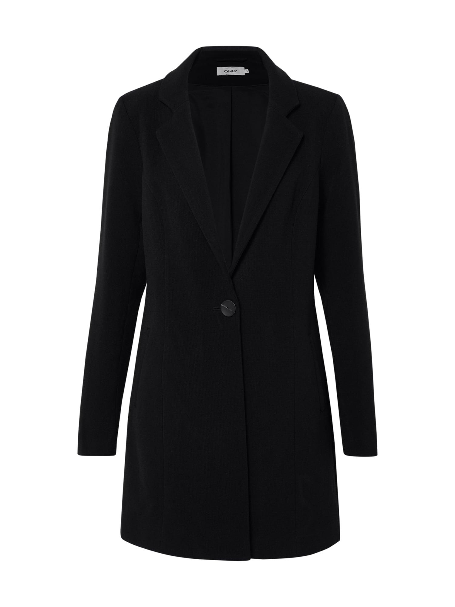 ONLY Prechodný kabát 'ONLSAVANNAH SPRING COAT'  čierna
