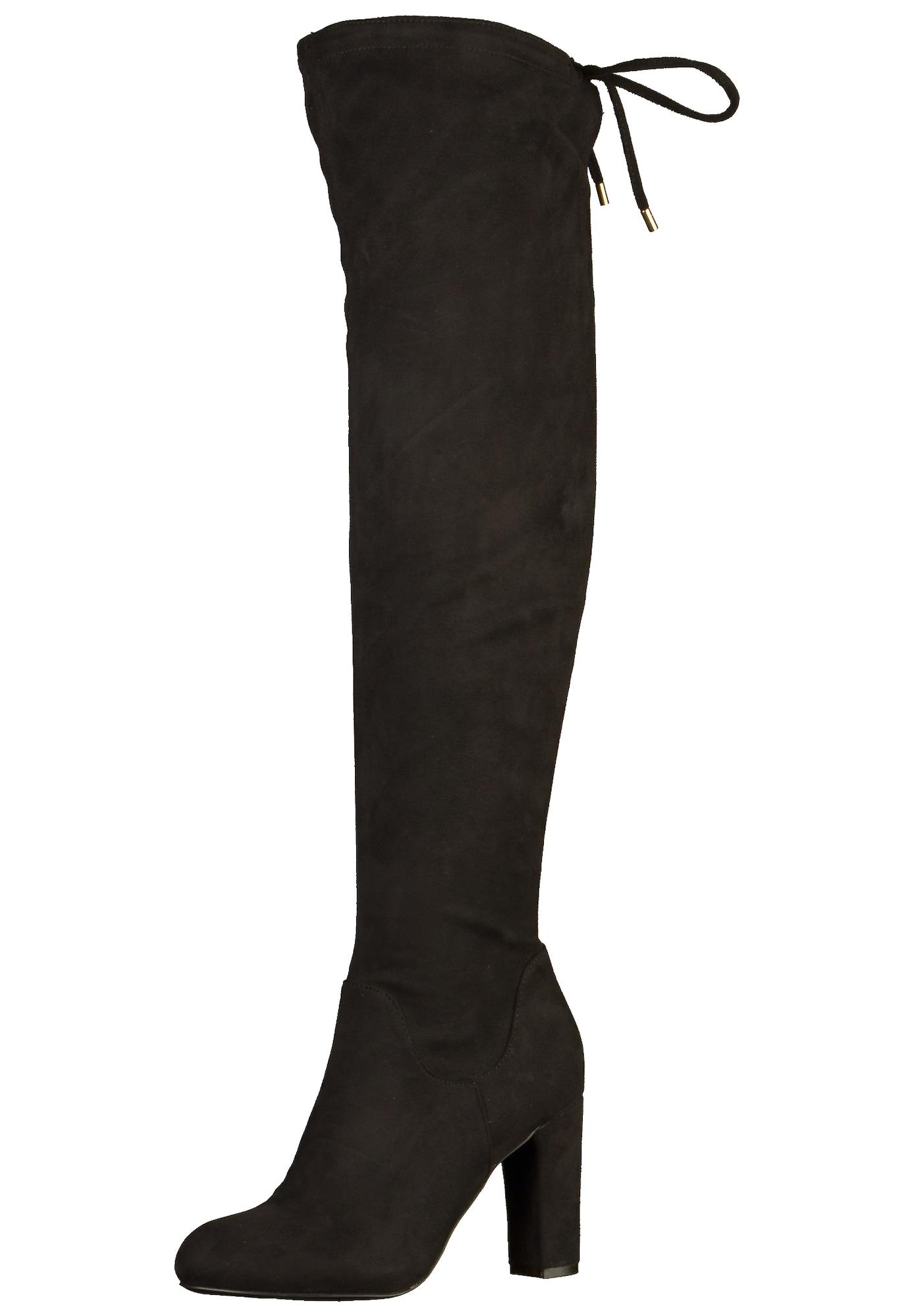 BUFFALO, Dames Overknee laarzen, zwart