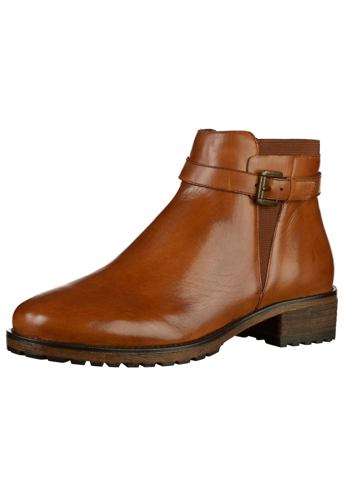 Kotníkové boty Ilastic koňaková SPM
