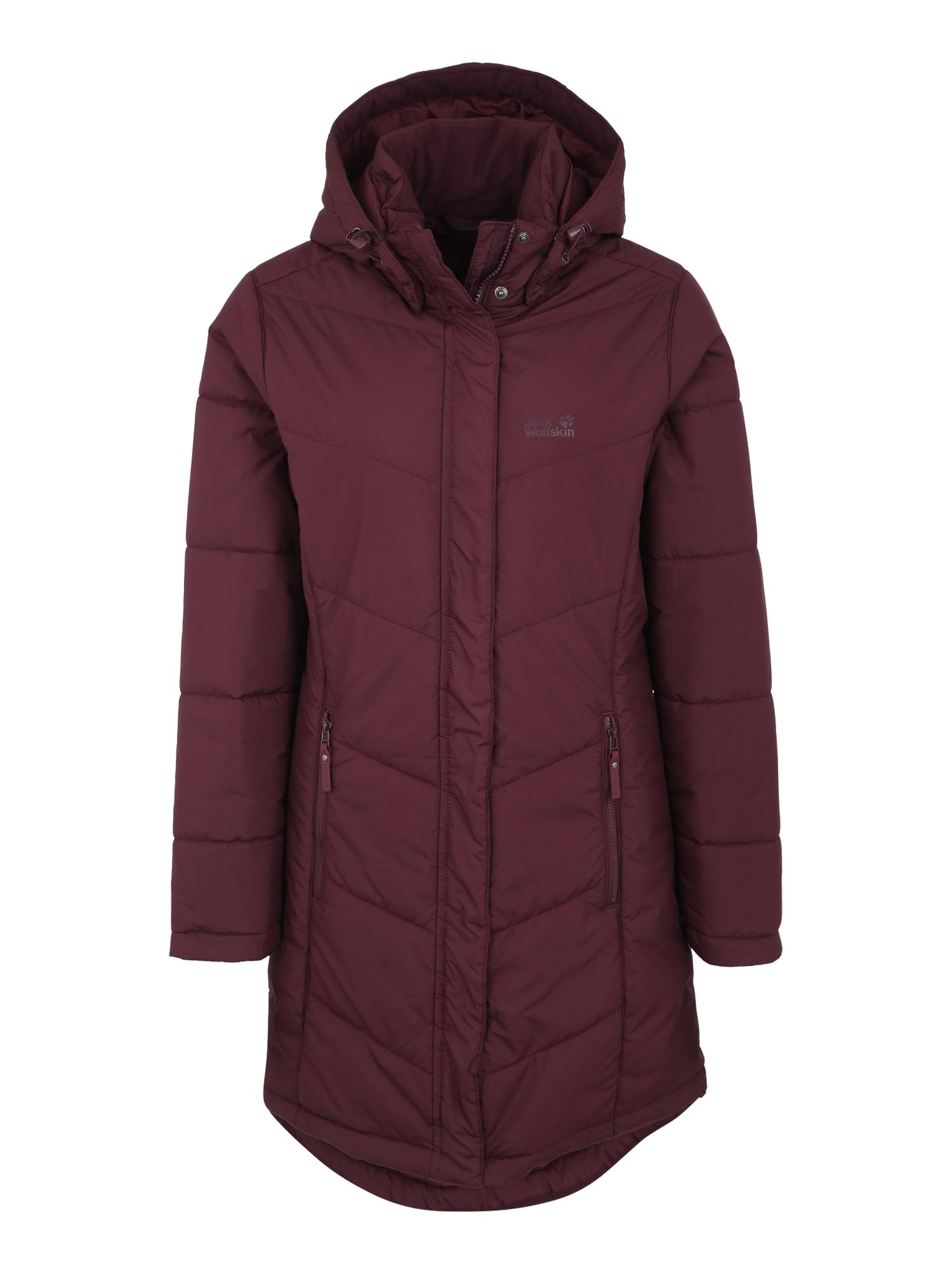 Outdoorový kabát SVALBARD vínově červená JACK WOLFSKIN