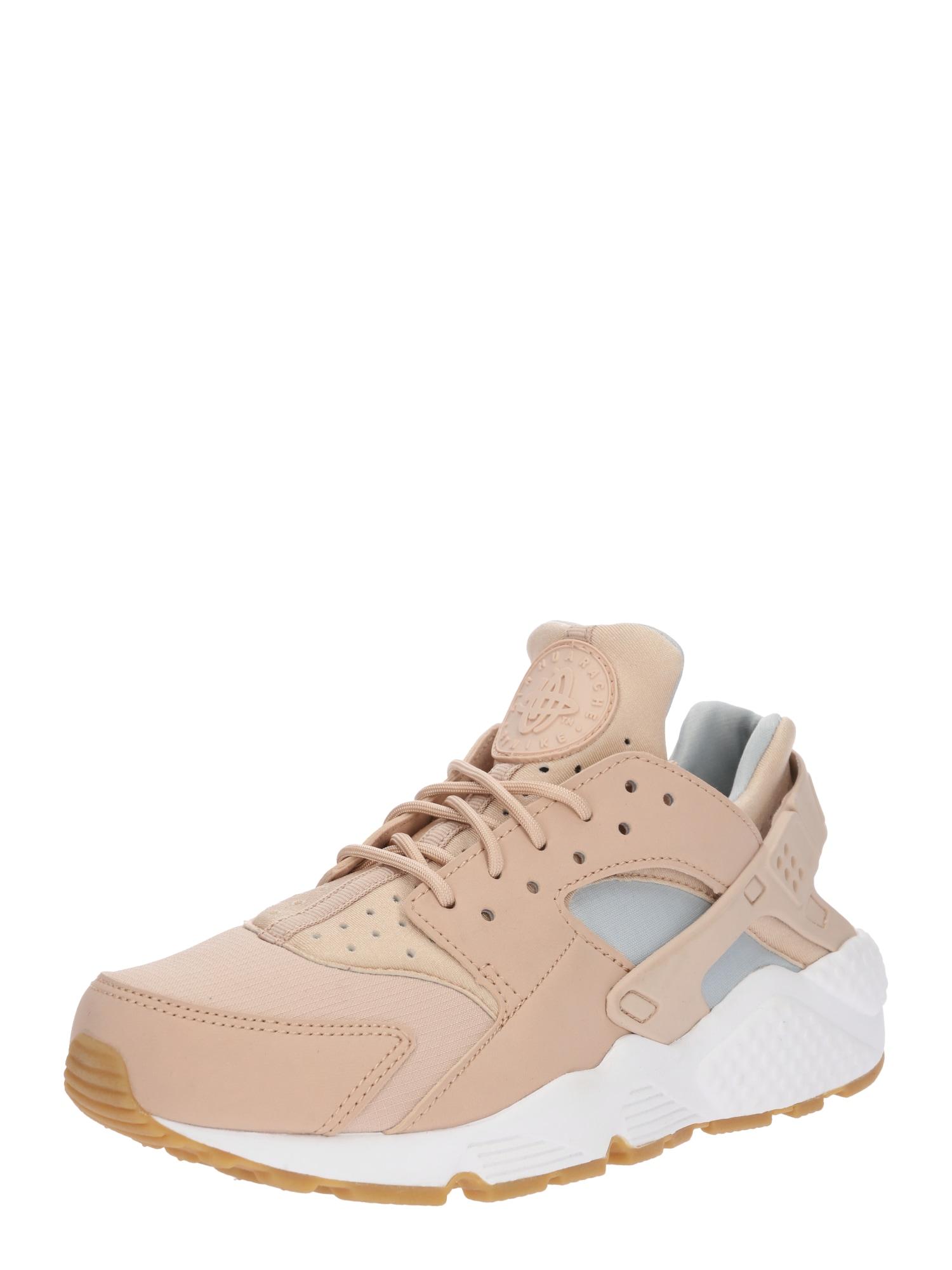 Nike Sportswear, Dames Sneakers laag 'Air Huarache Run', lichtbruin / grijs / poederroze