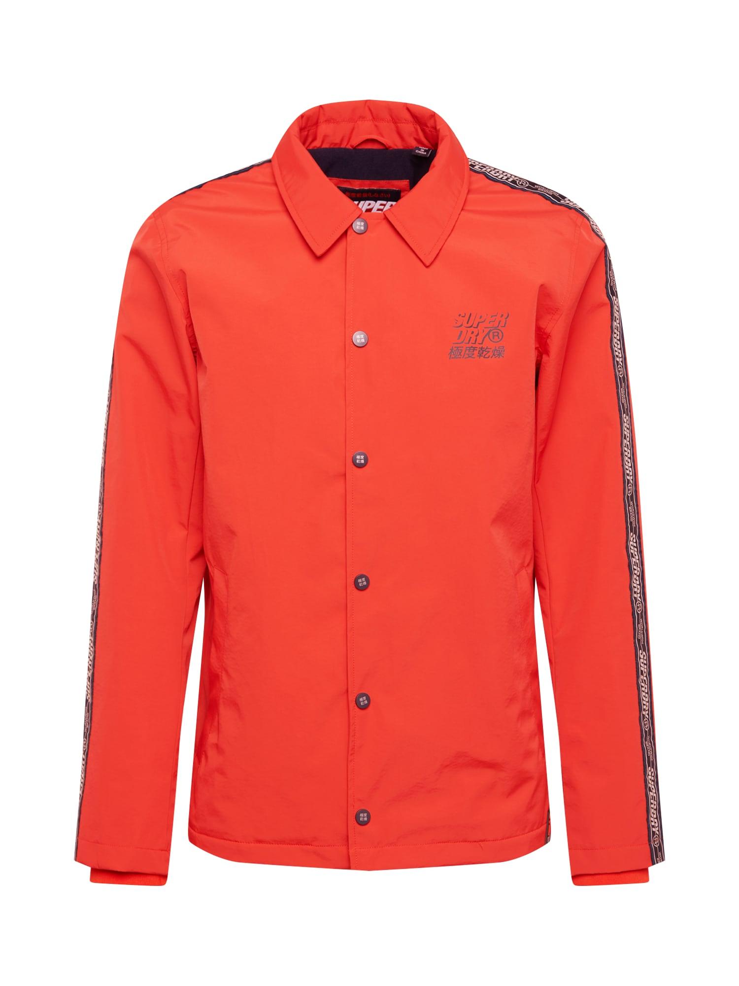 Přechodná bunda CADENCE COACH oranžově červená Superdry