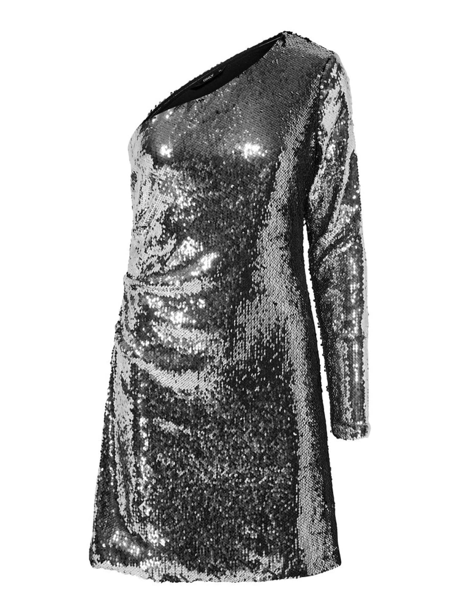 ONLY Sukienka koktajlowa 'ONLHOLLY ONESHOULDER SEQUIN DRESS WVN'  srebrny