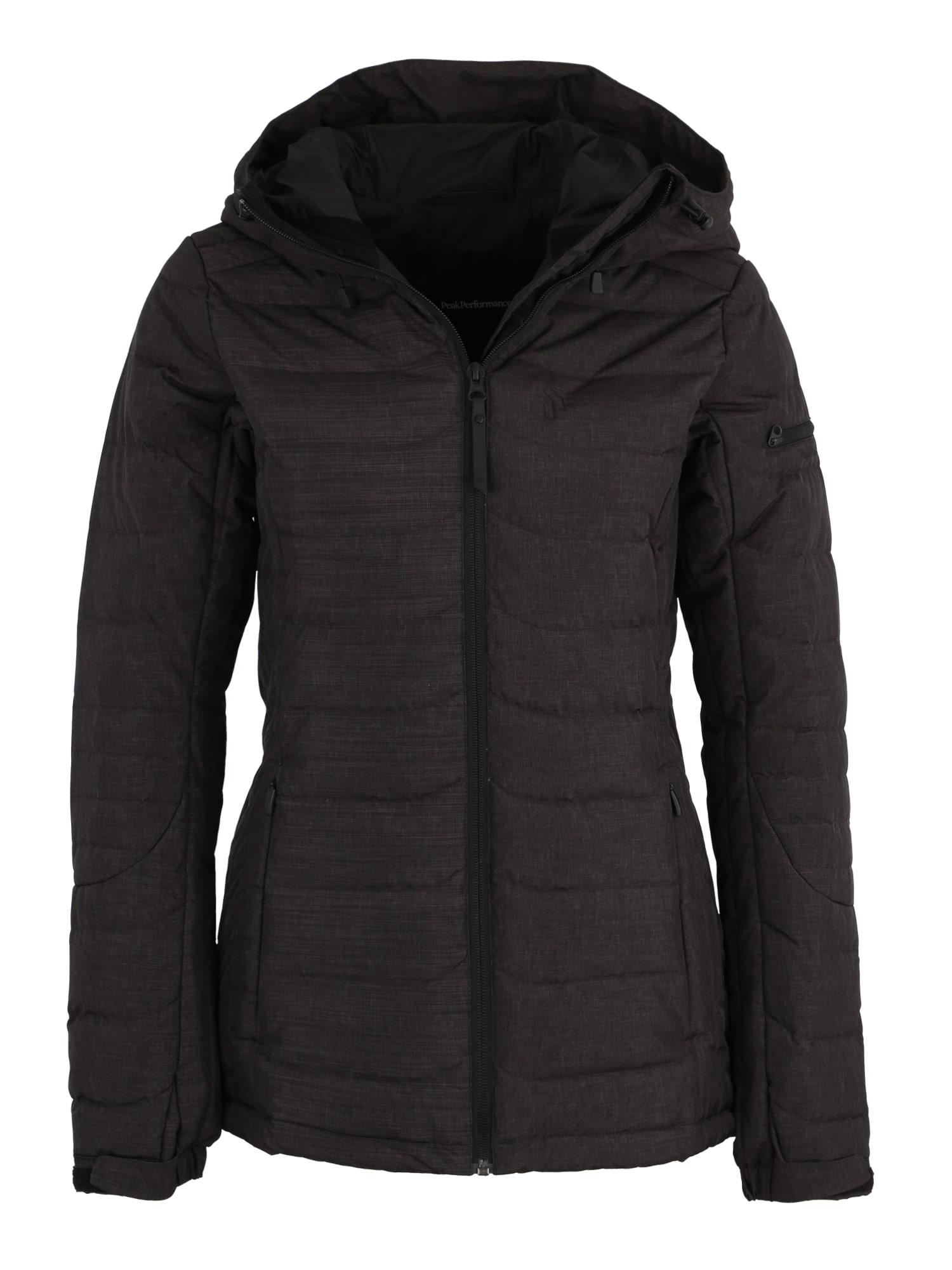 Sportovní bunda W BLACK J černý melír PEAK PERFORMANCE