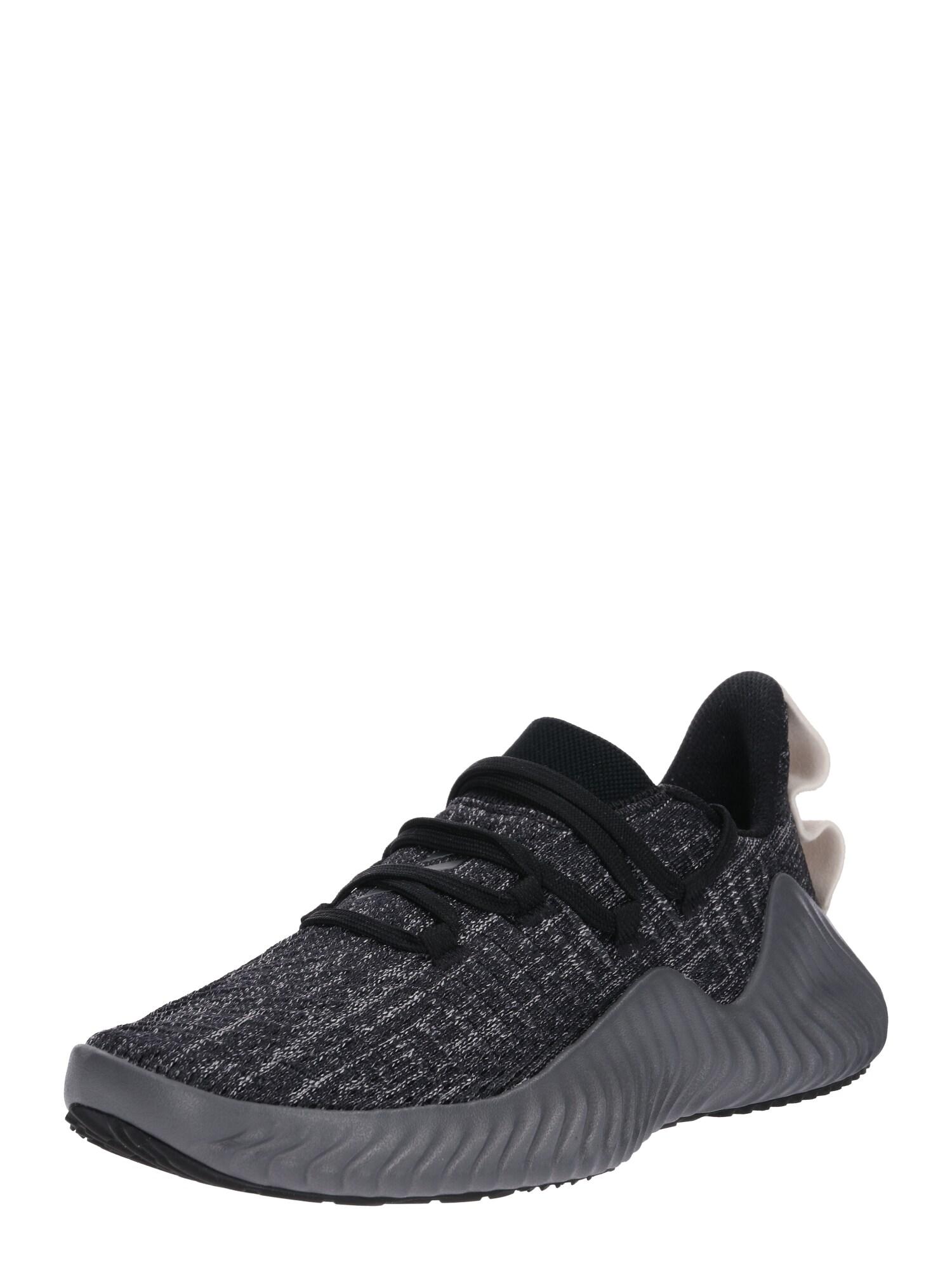 Sportovní boty AlphaBOUNCE TRAINER tmavě šedá černá ADIDAS PERFORMANCE
