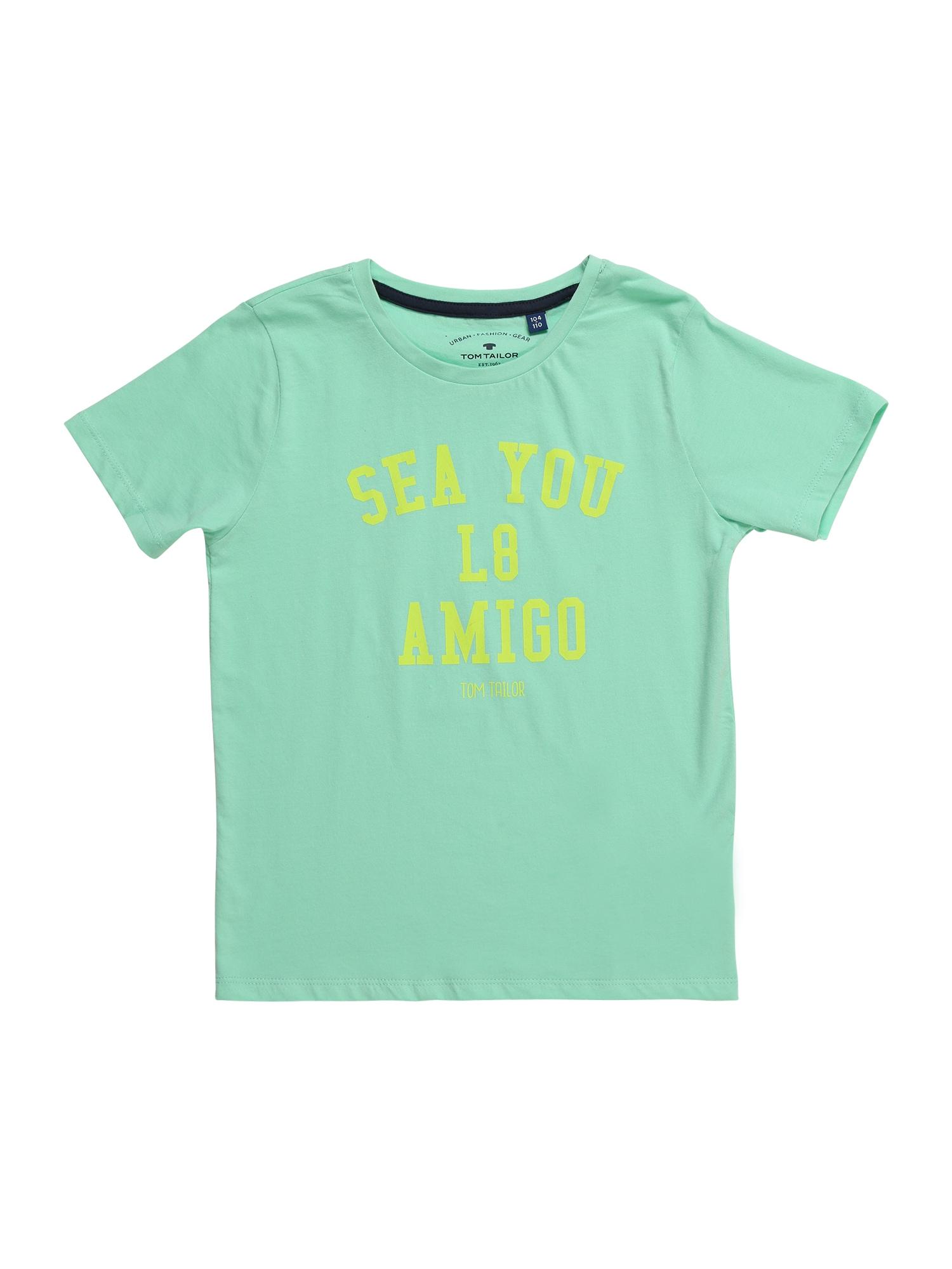 Tričko žlutá zelená mátová TOM TAILOR