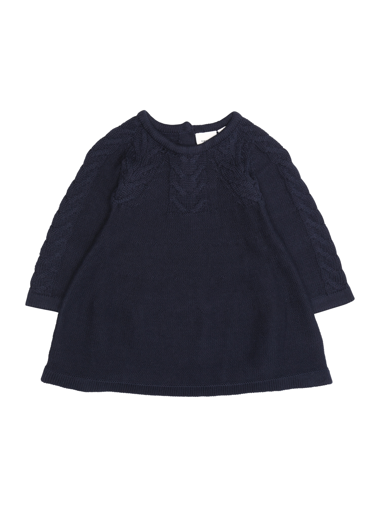 Name it Meisjes Jurk 'NBFOFIA LS KNIT DRESS' donkerblauw