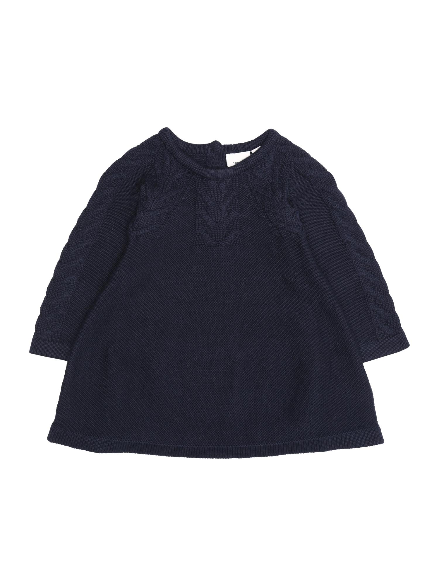 Name it Meisjes Jurk 'NBFOFIA LS KNIT DRESS' donkerblauw