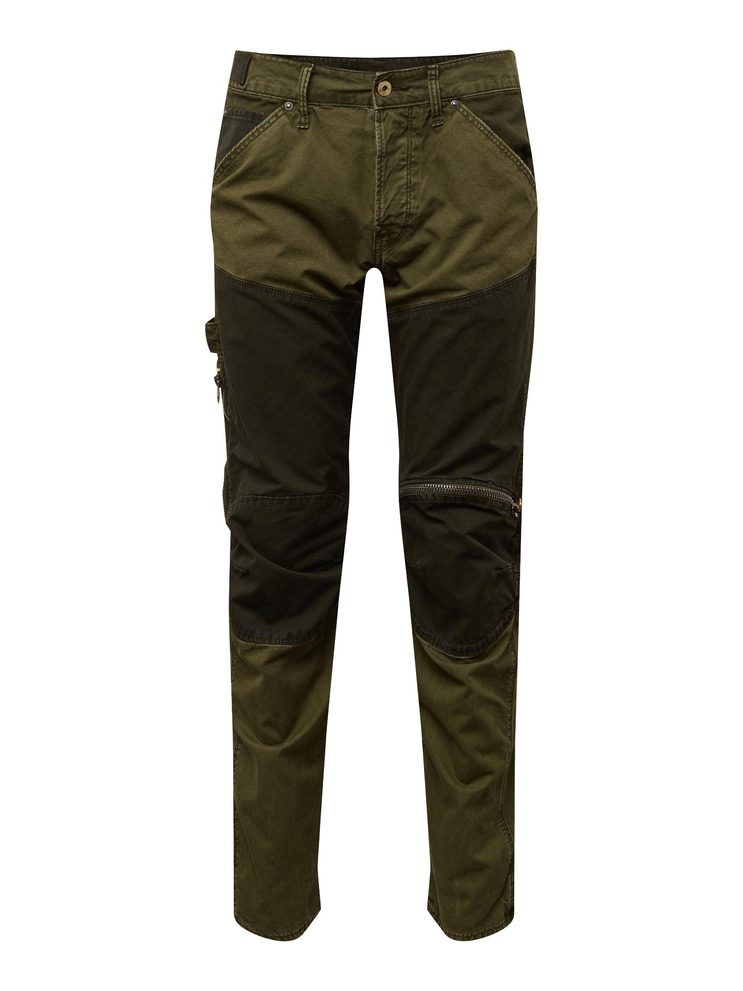 Kapsáče 5620 workwear 3d zip straight cb tmavě zelená G-STAR RAW