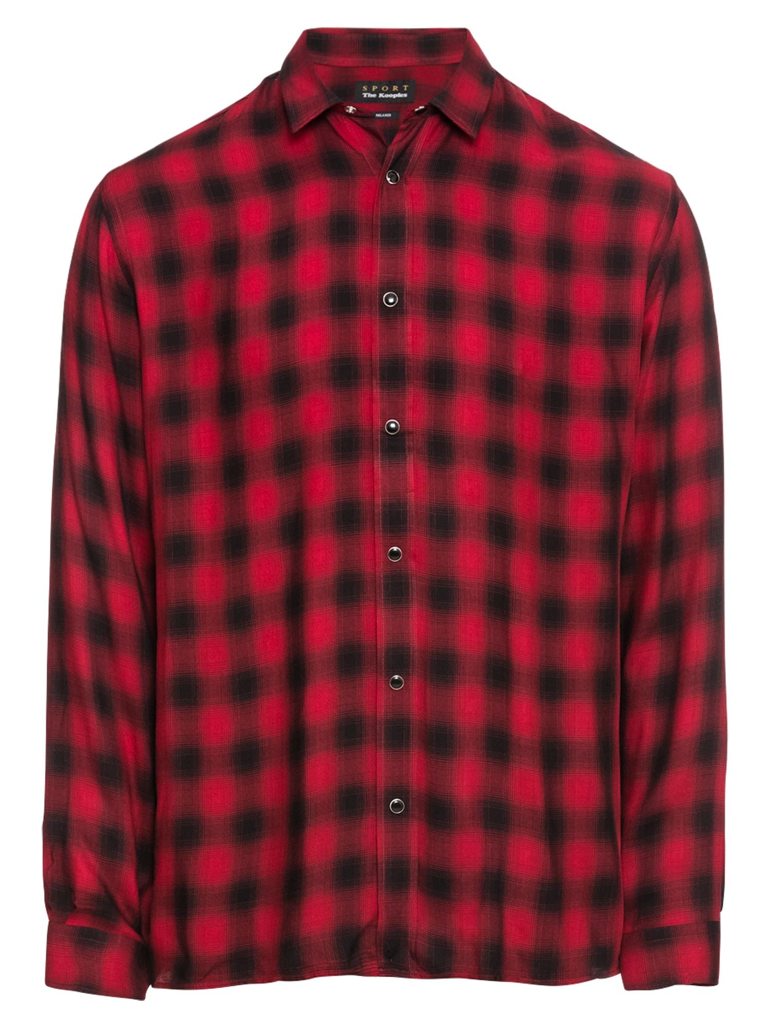 Košile SHIRT WITH A CLASSIC COLLAR modrá červená THE KOOPLES SPORT