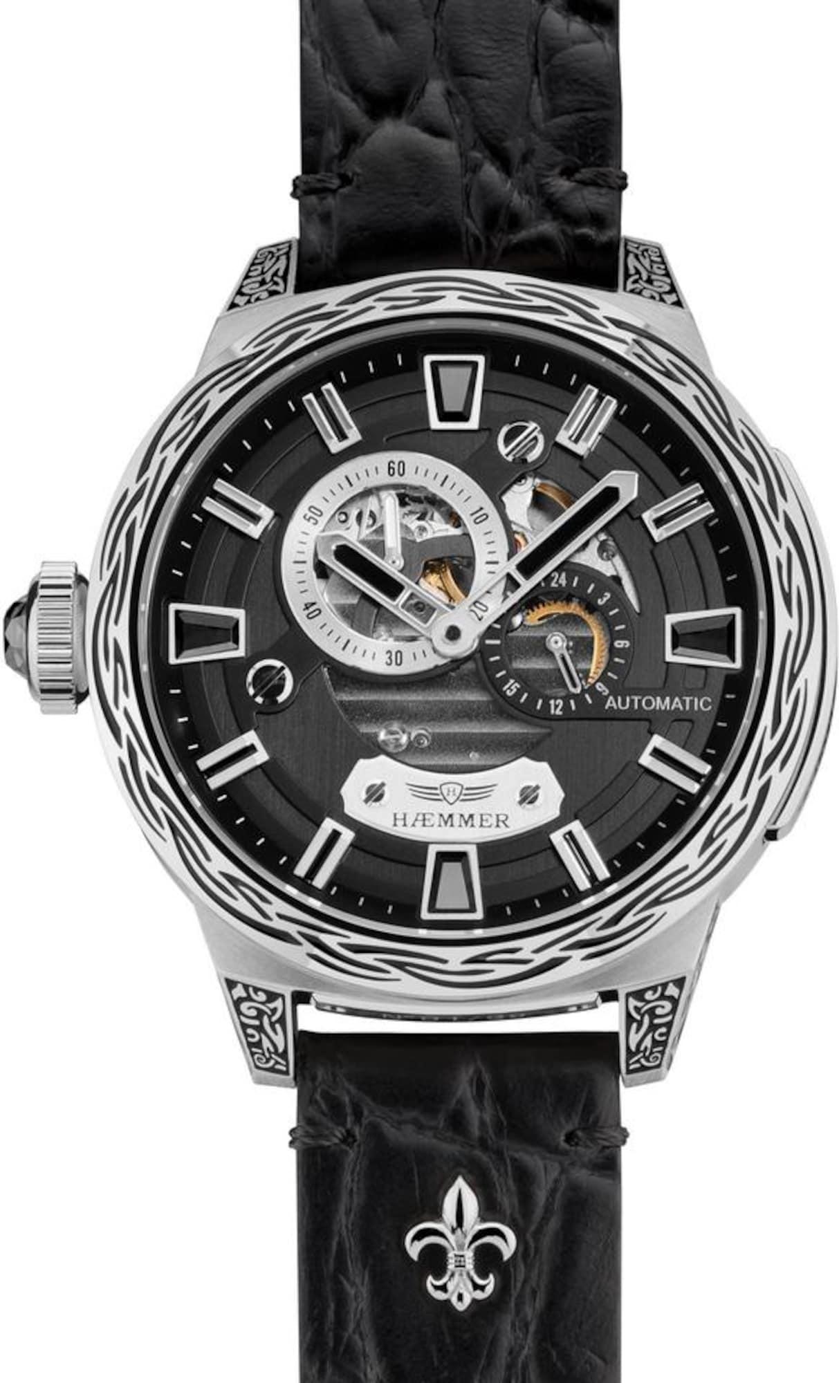 Automatikuhr 'Dark Moon, RD-100' | Uhren > Automatikuhren | Schwarz - Silber | HAEMMER