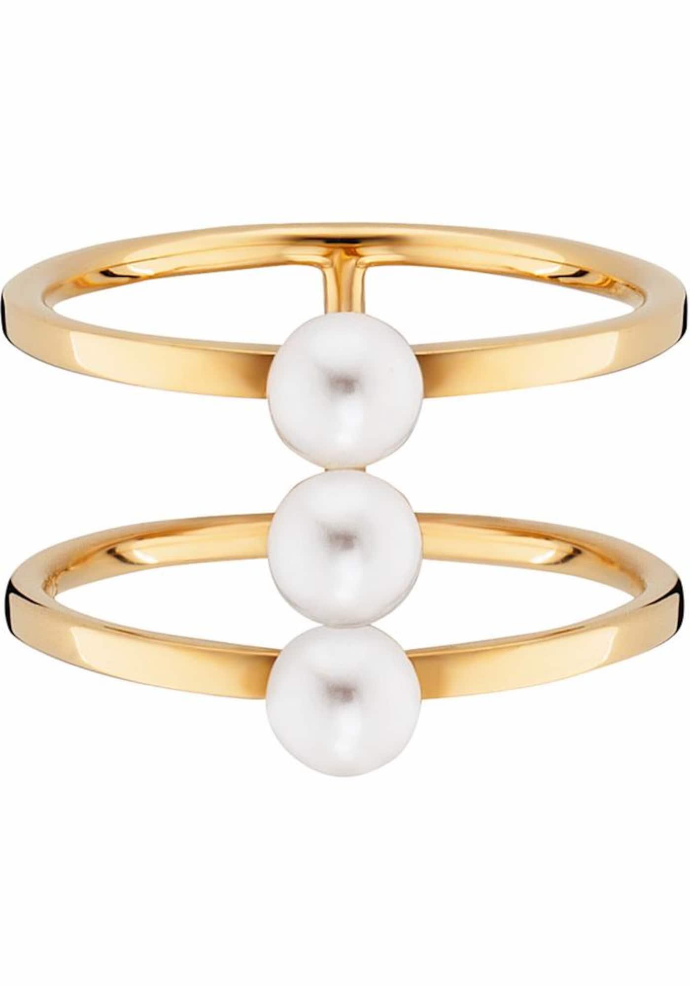 Perlenring 'pure white' | Schmuck > Ringe > Perlenringe | Gold | Caï