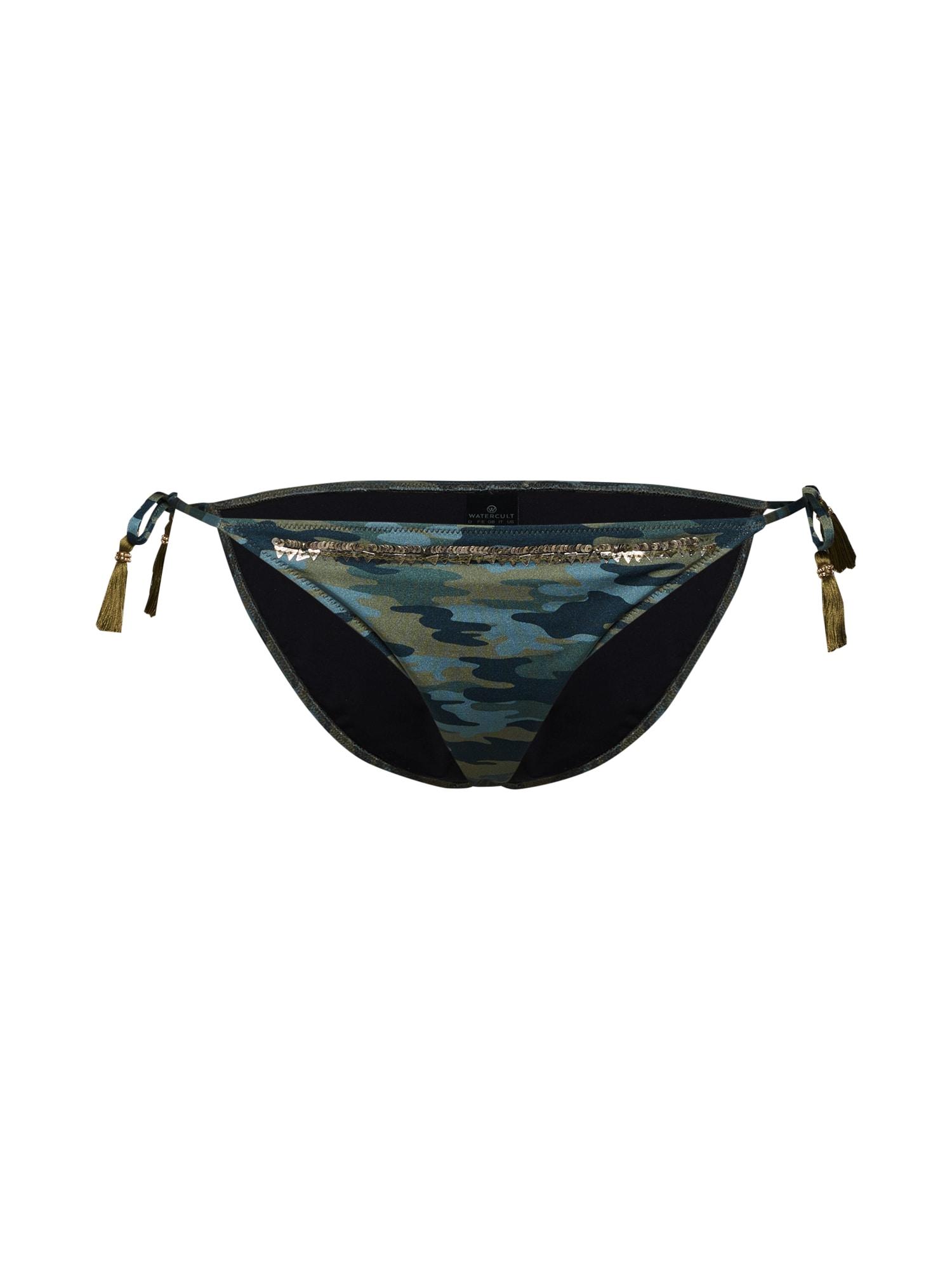 Watercult, Dames Bikinibroek, blauw / groen / zwart