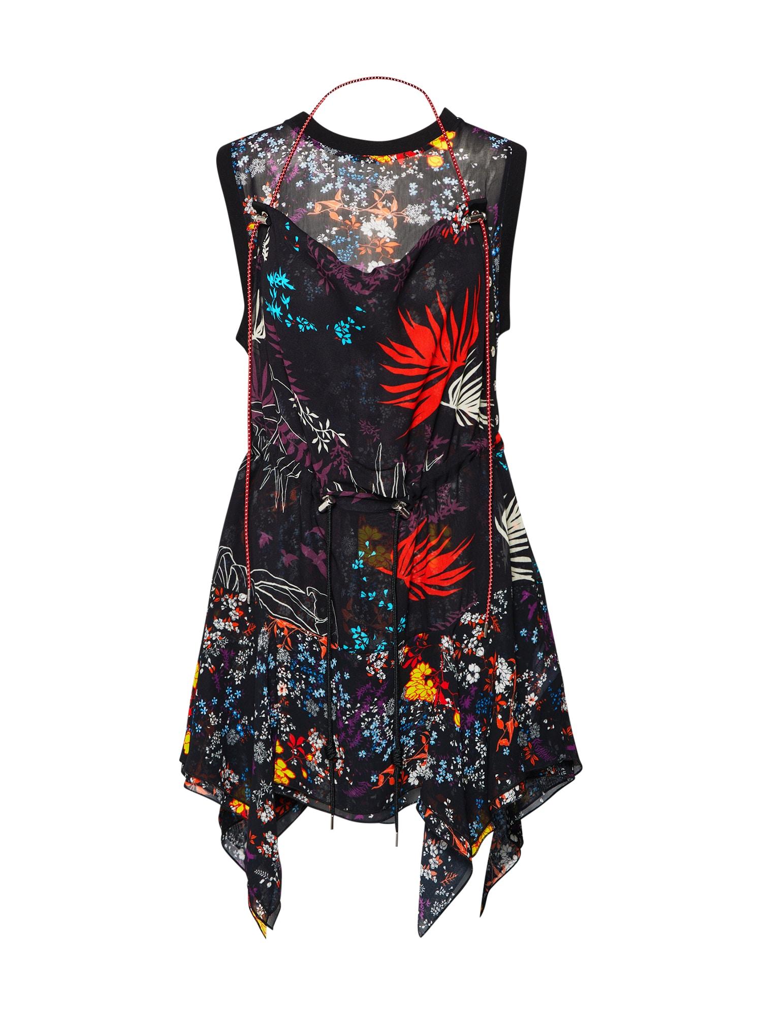 Šaty D-Lyan Dress mix barev černá DIESEL