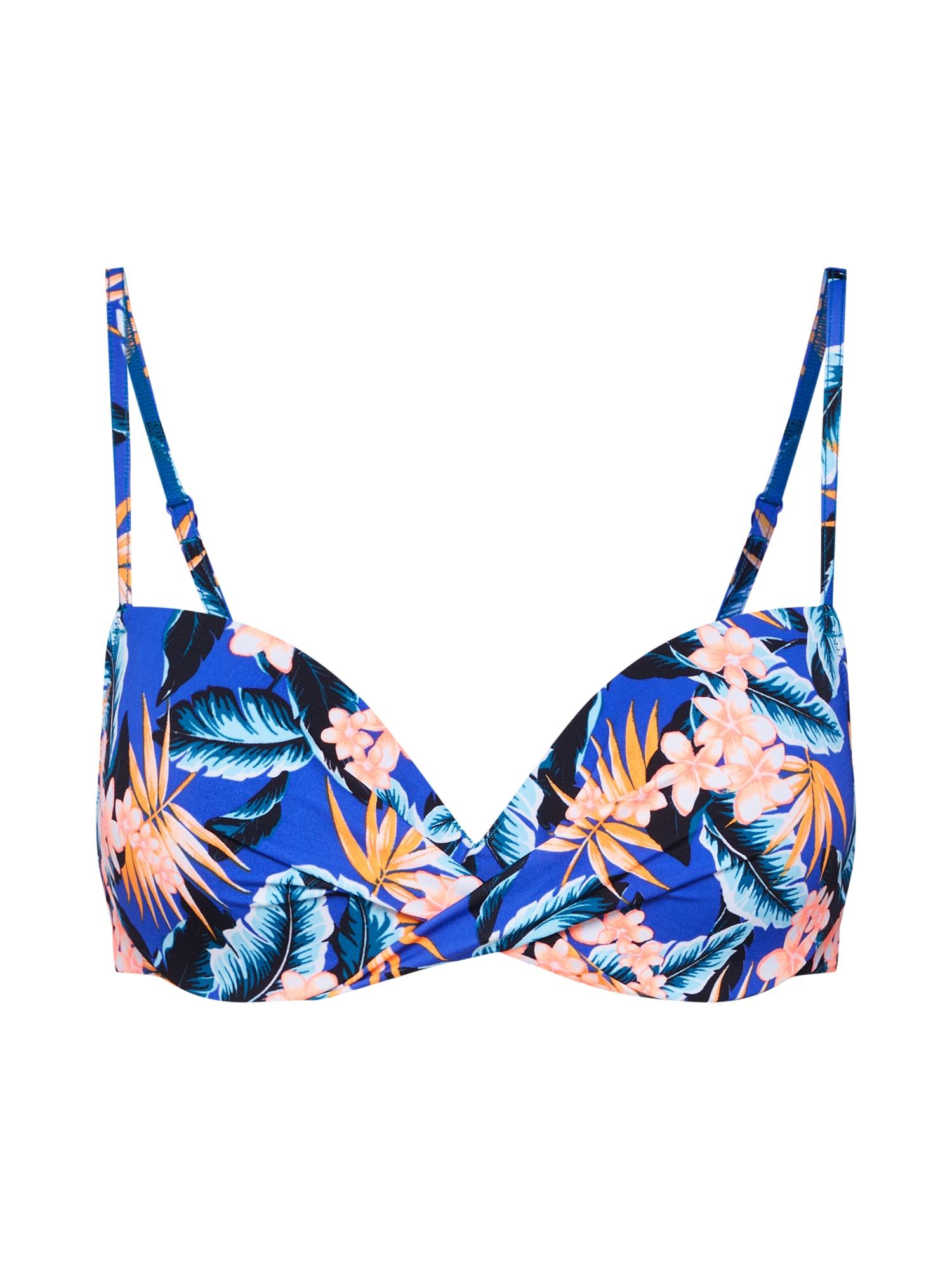 Horní díl plavek Aloha tmavě modrá mix barev Skiny