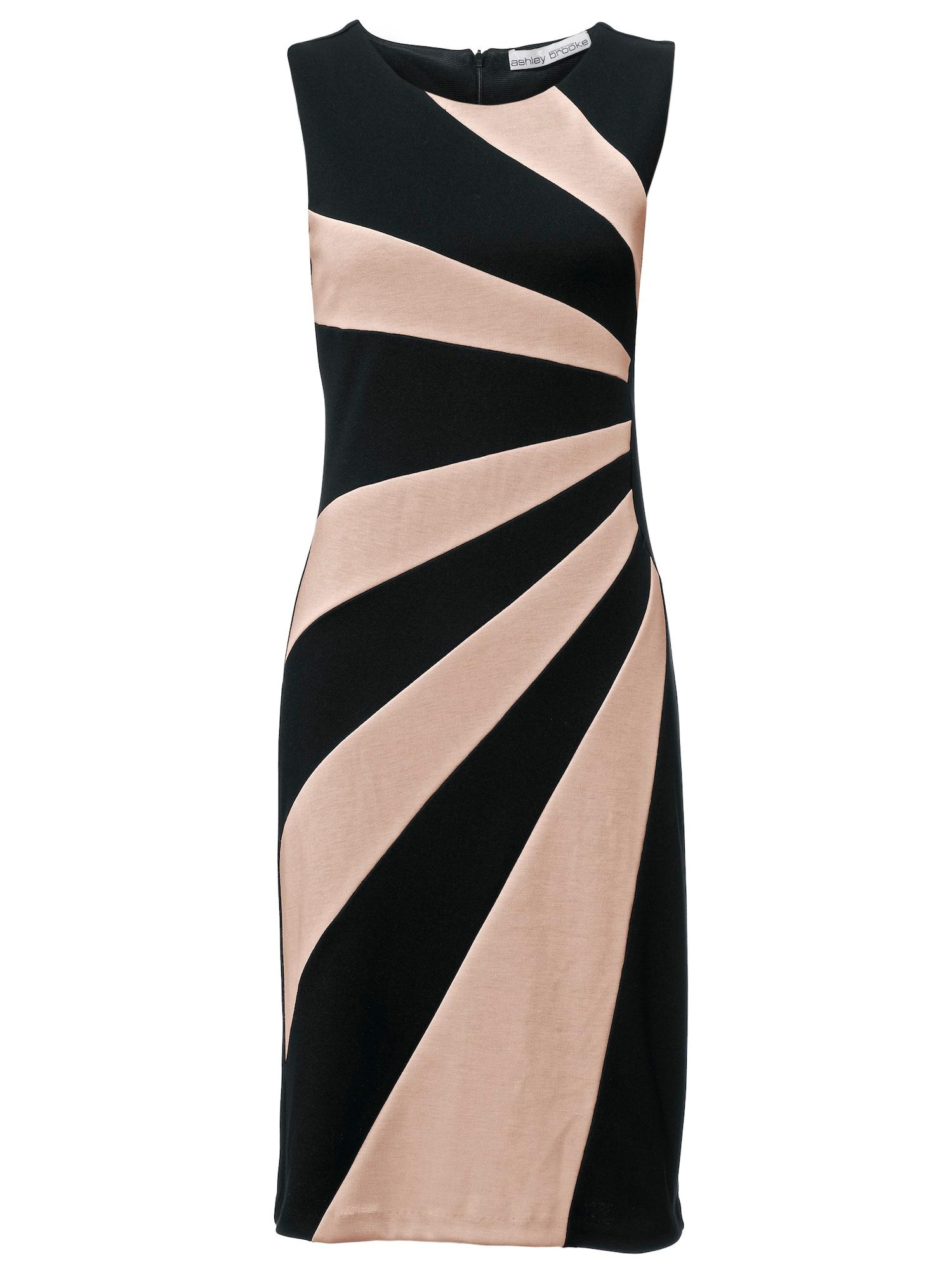 Pouzdrové šaty béžová černá Heine
