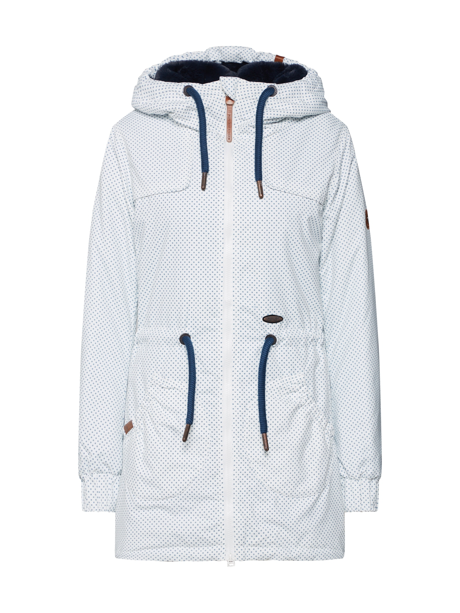 Alife And Kickin Zimní bunda 'CHARLOTTE'  tmavě modrá / bílá