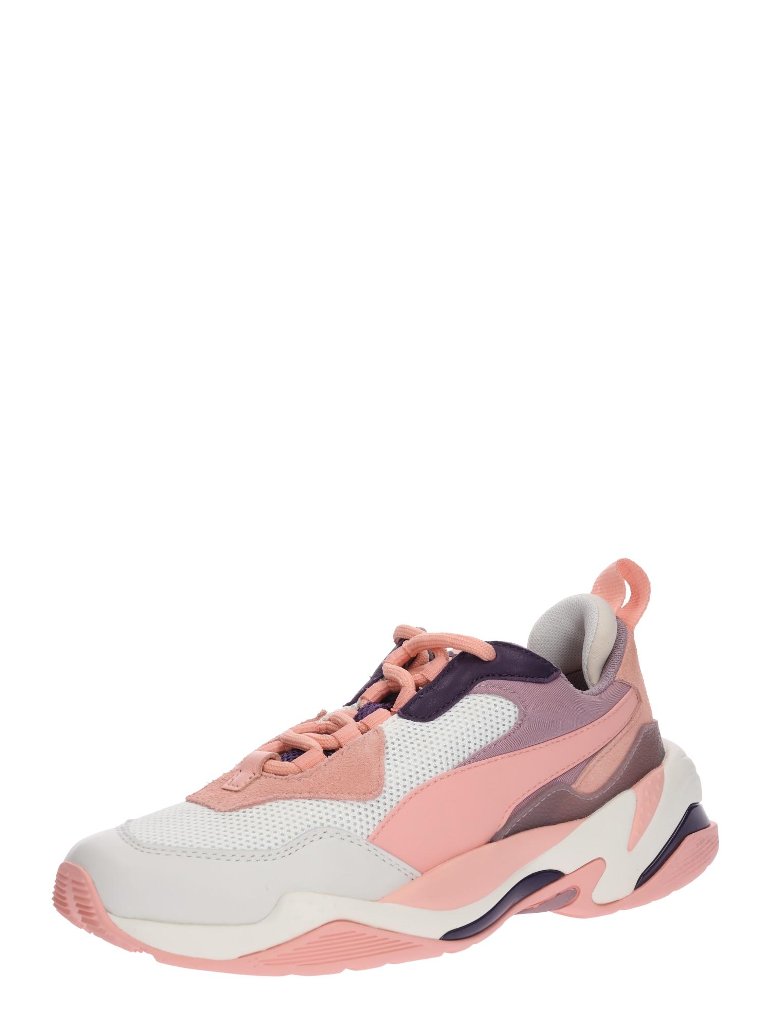 PUMA, Dames Sneakers laag 'Thunder Fashion 1', aubergine / perzik / rosa / wit