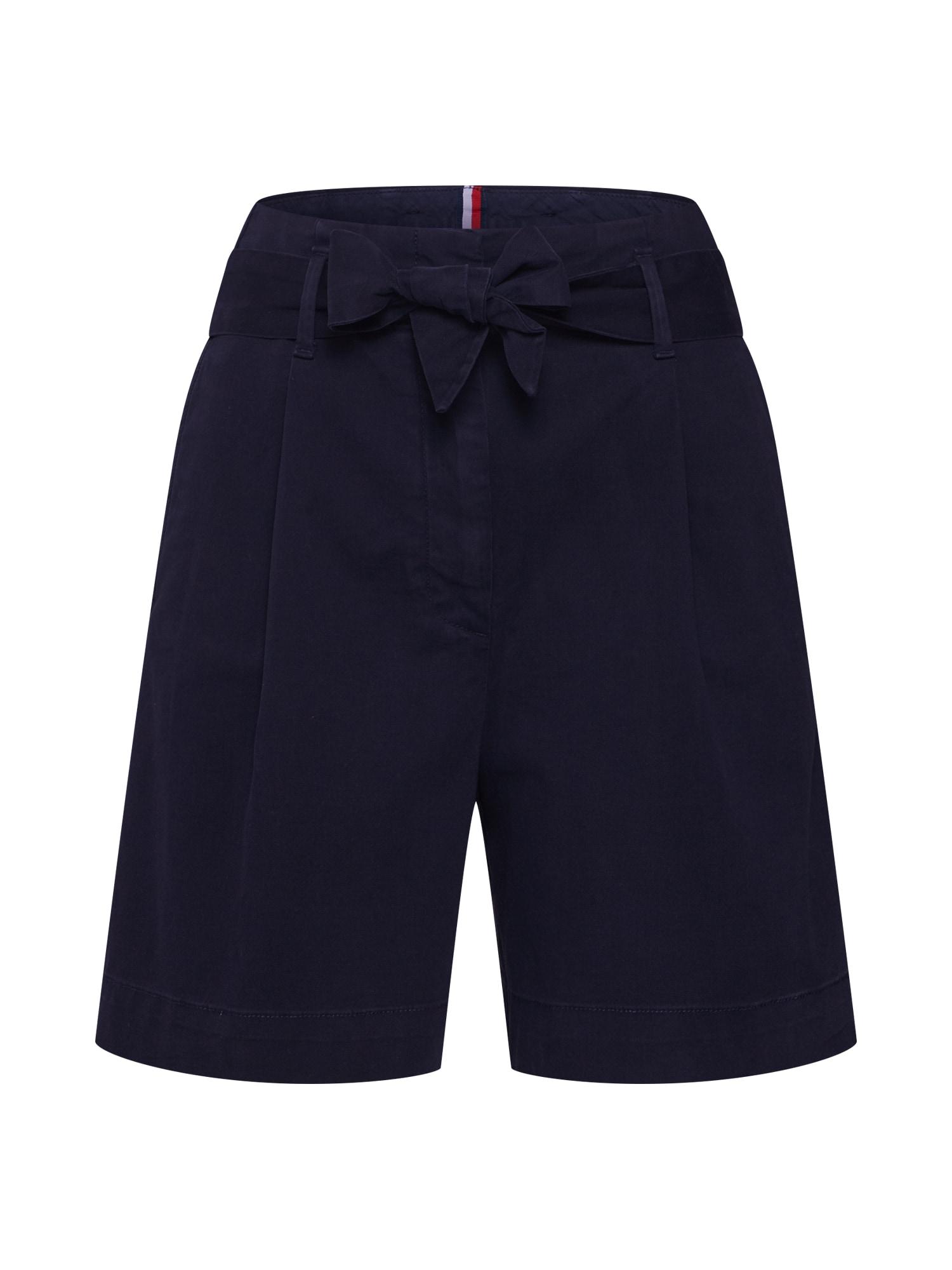 Kalhoty se sklady v pase Badu modrá marine modrá TOMMY HILFIGER