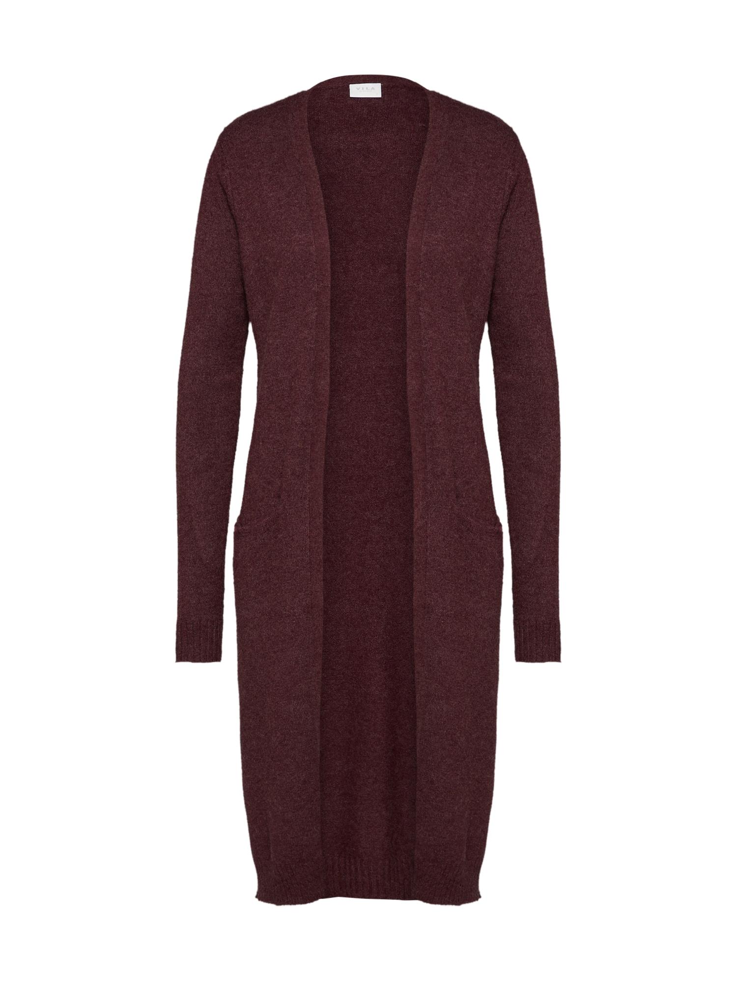 Pletený kabátek Ril červená VILA