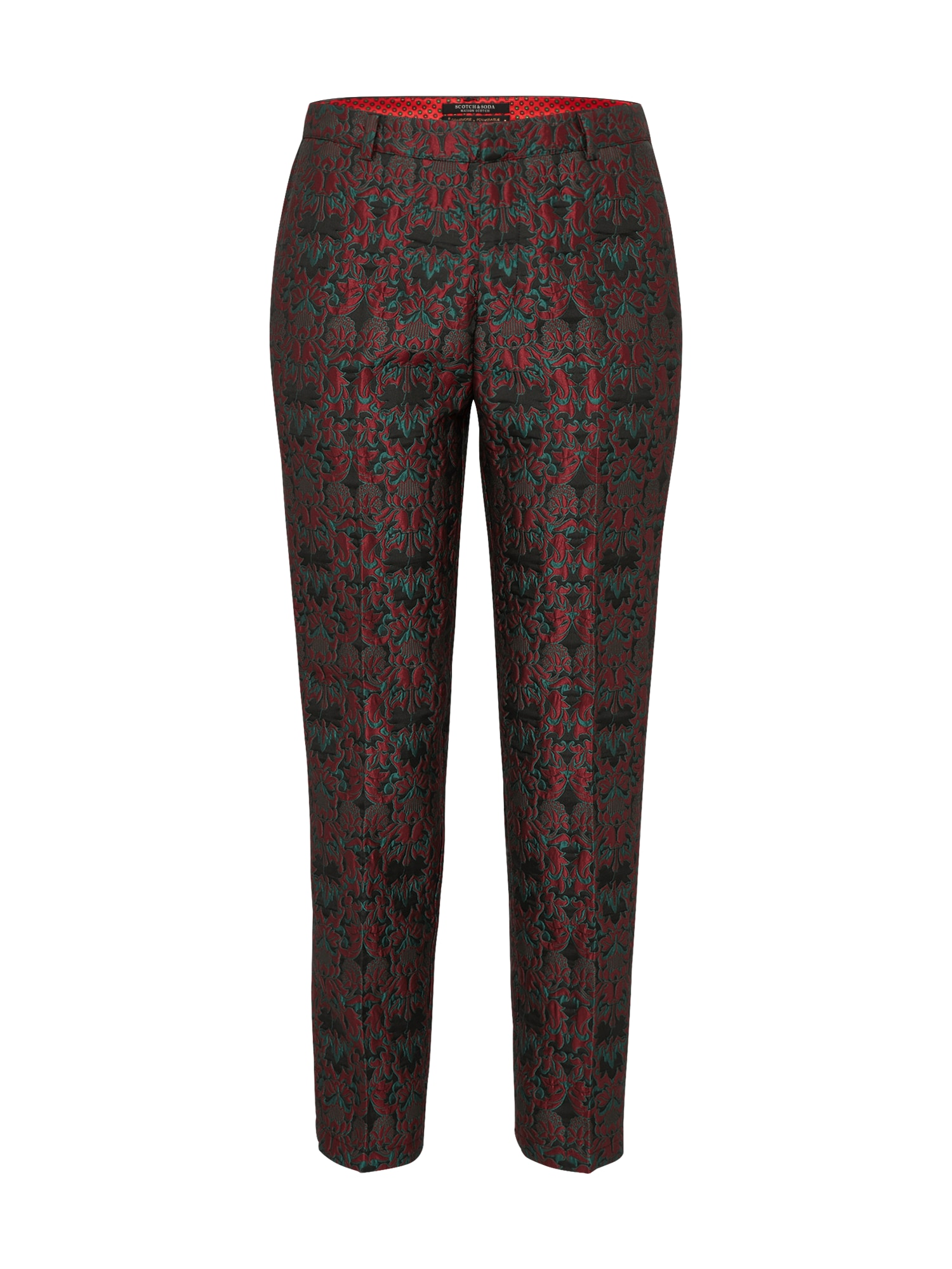 SCOTCH  and  SODA Dames Pantalon wijnrood zwart