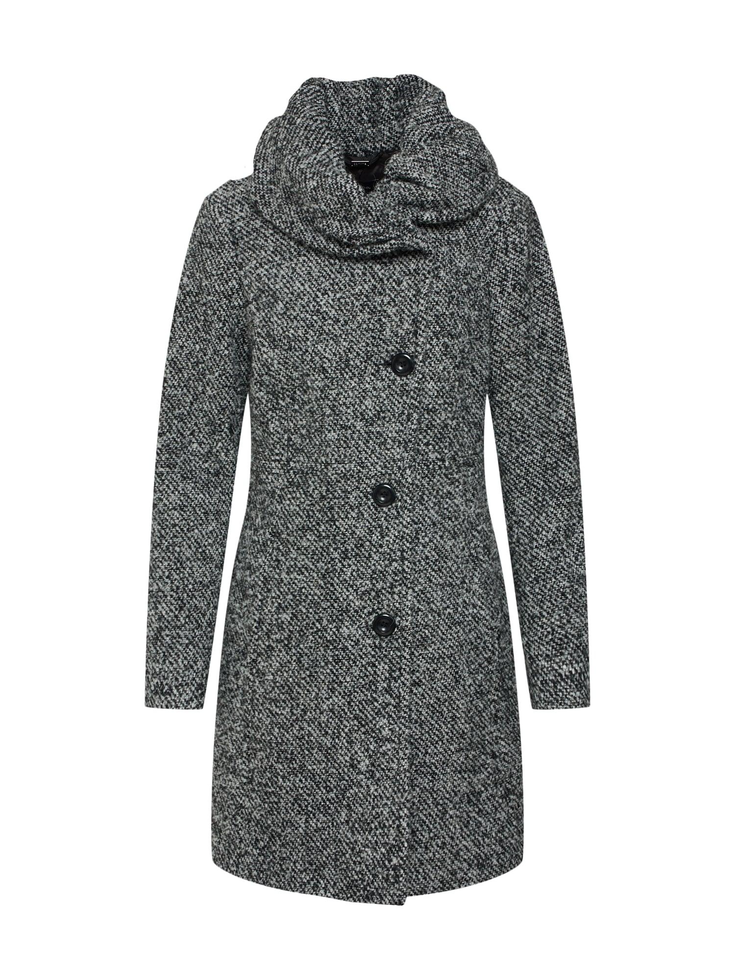 Zimní kabát šedý melír černá COMMA