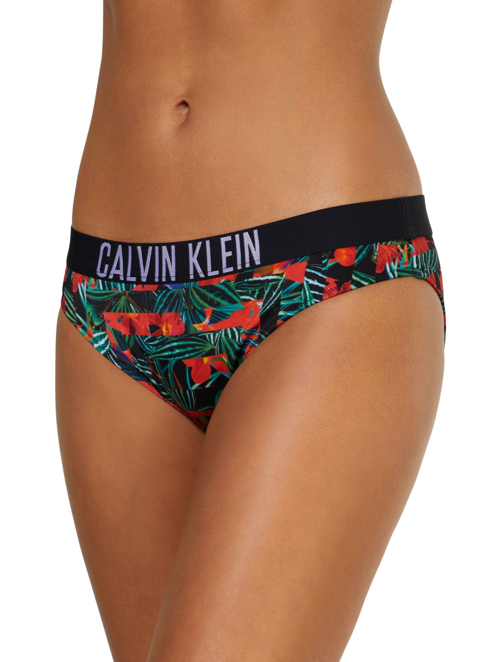 Calvin Klein Swimwear Bikini dół 'CLASSIC HR-PRINT'  ciemnozielony / ciemnoczerwony / czarny / biały