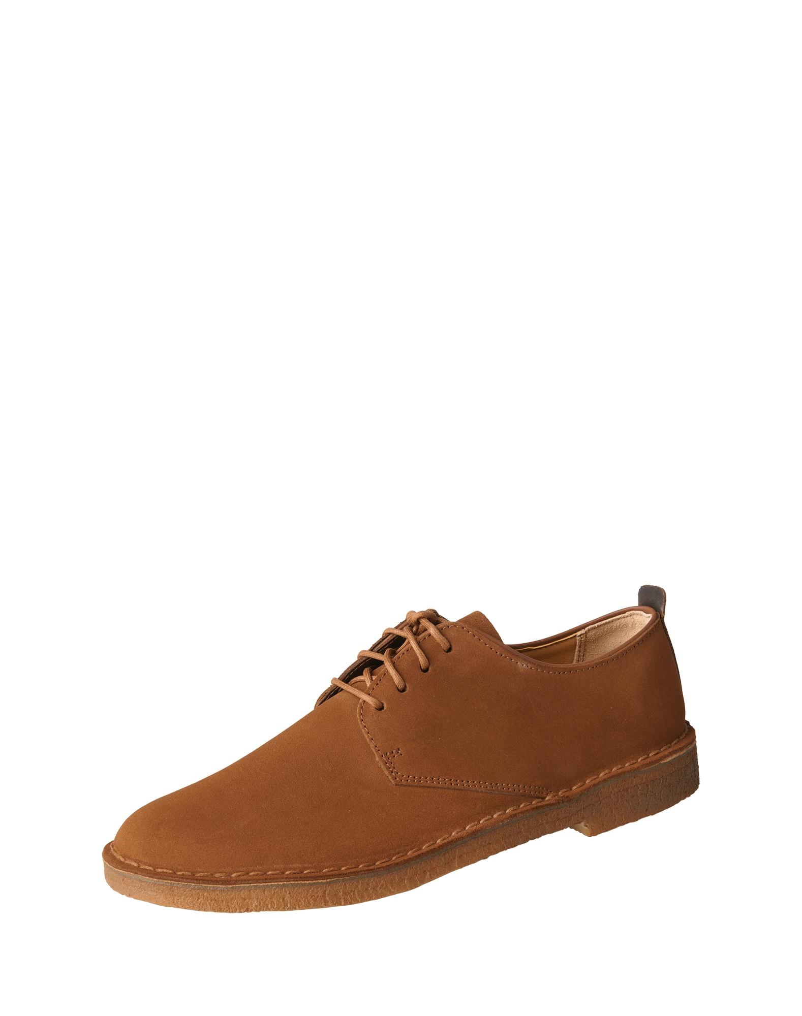 Šněrovací boty Desert London koňaková Clarks Originals