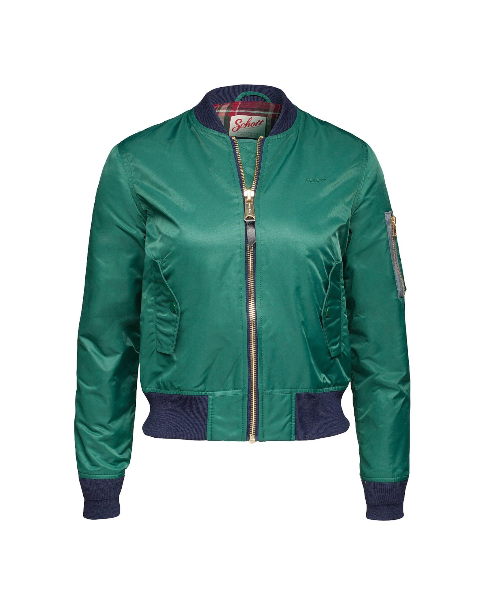 Přechodná bunda smaragdová Schott NYC