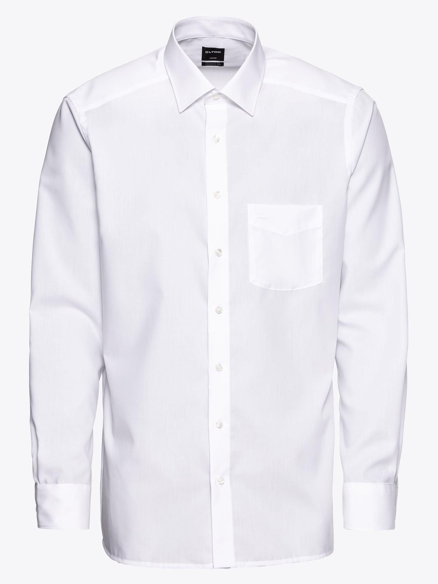 OLYMP, Heren Zakelijk overhemd 'Luxor Uni Pop', wit