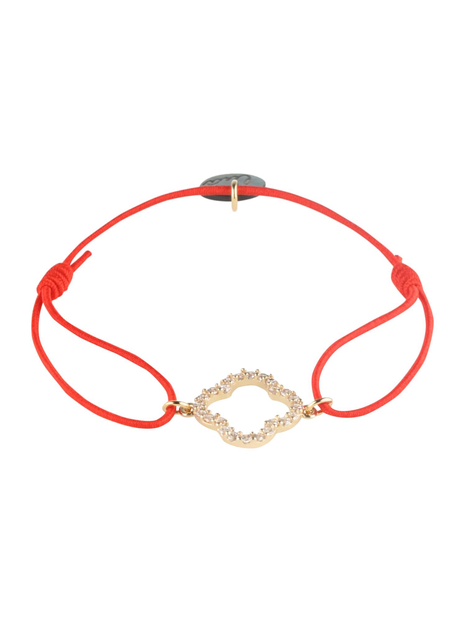 Náramek Floris zlatá červená Lua Accessories