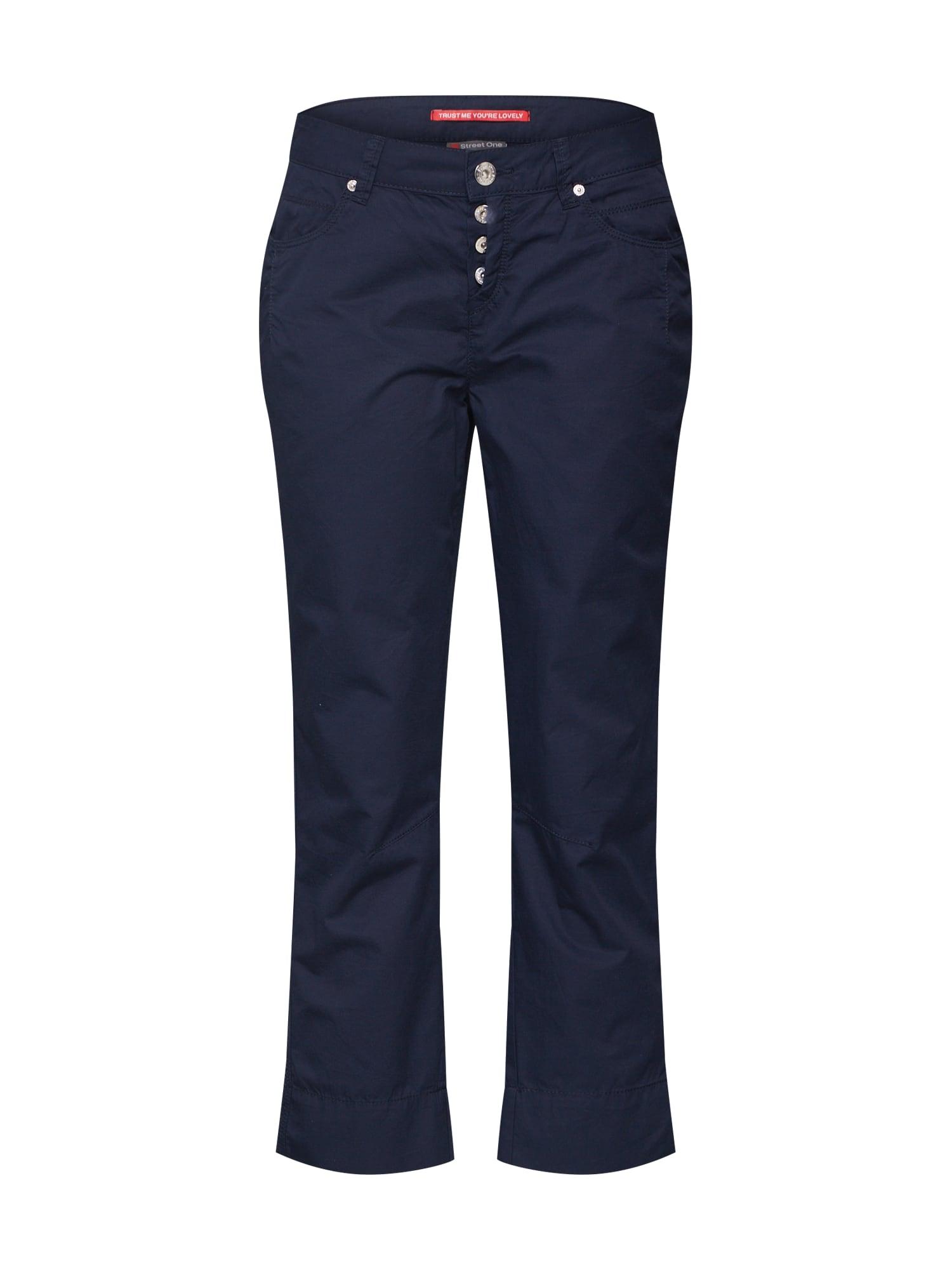 STREET ONE Kalhoty 'Jane L26 Papertouch MW Casual'  tmavě modrá