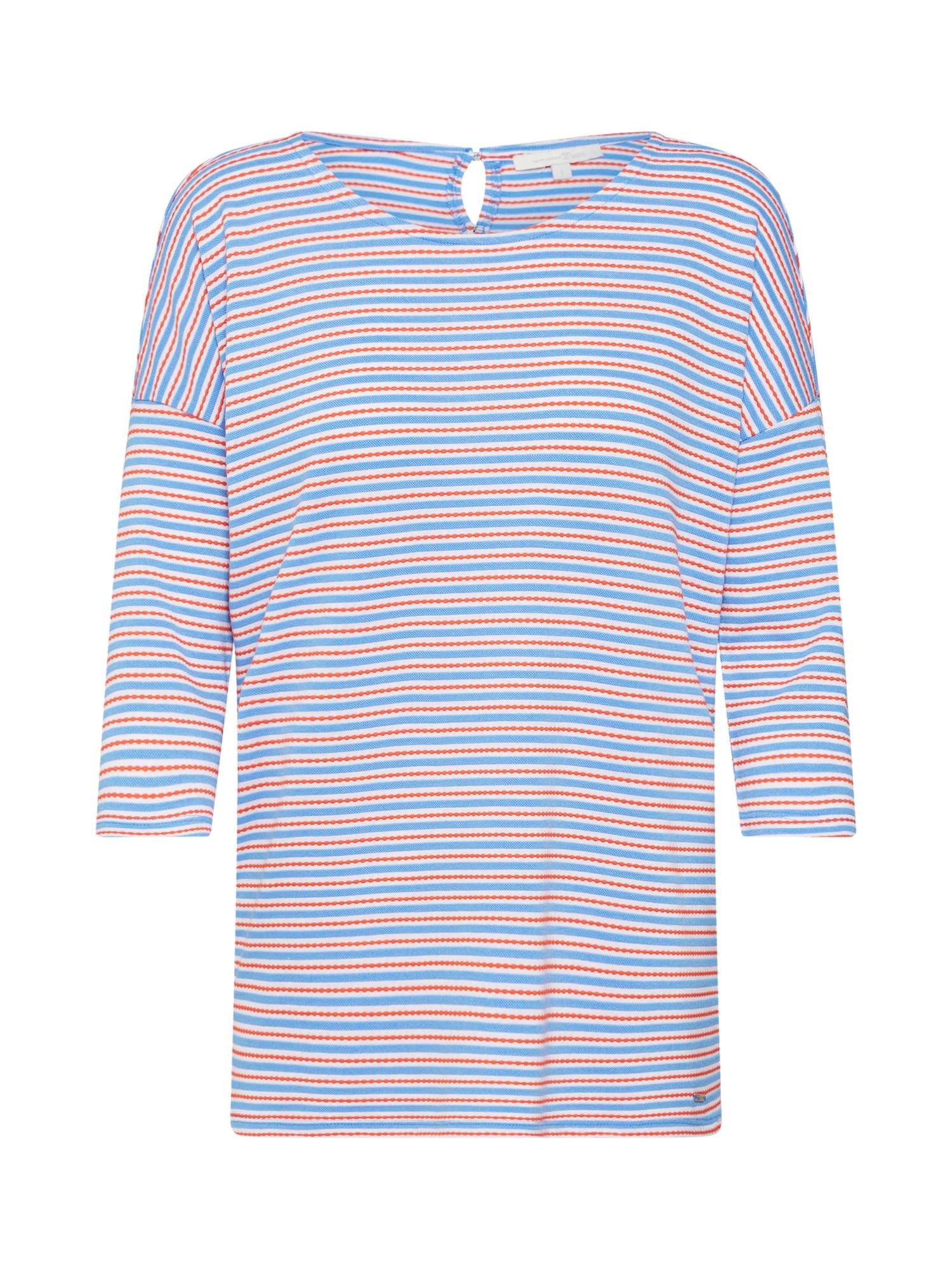 TOM TAILOR DENIM Tričko  modrá / červená / bílá