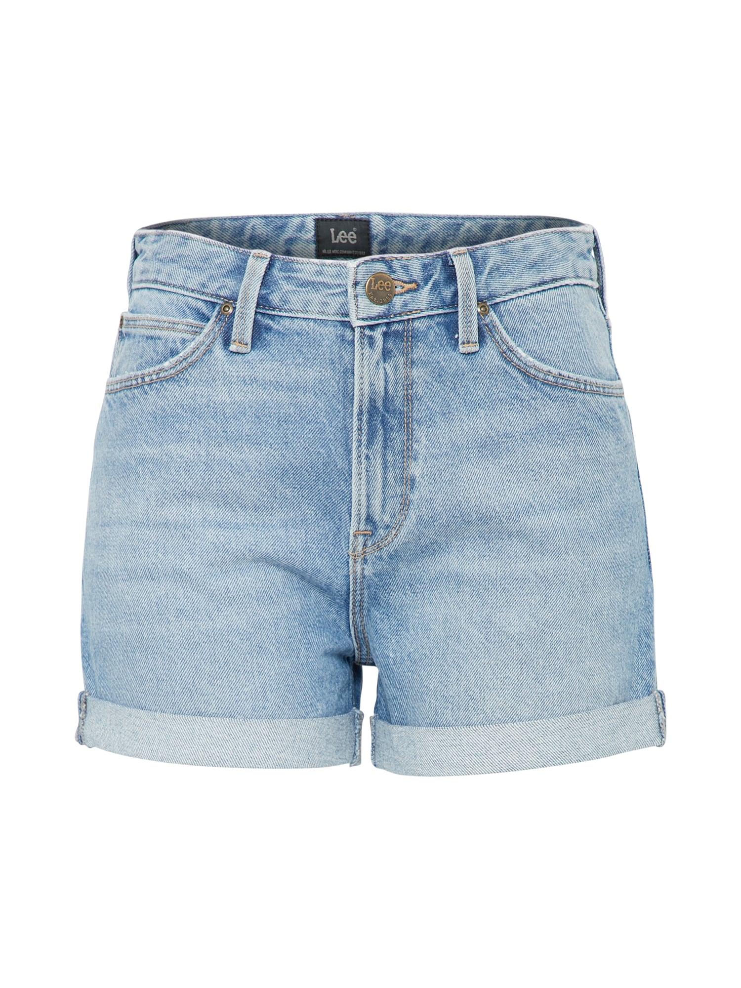 Lee Dames Jeans MOM SHORT blauw denim