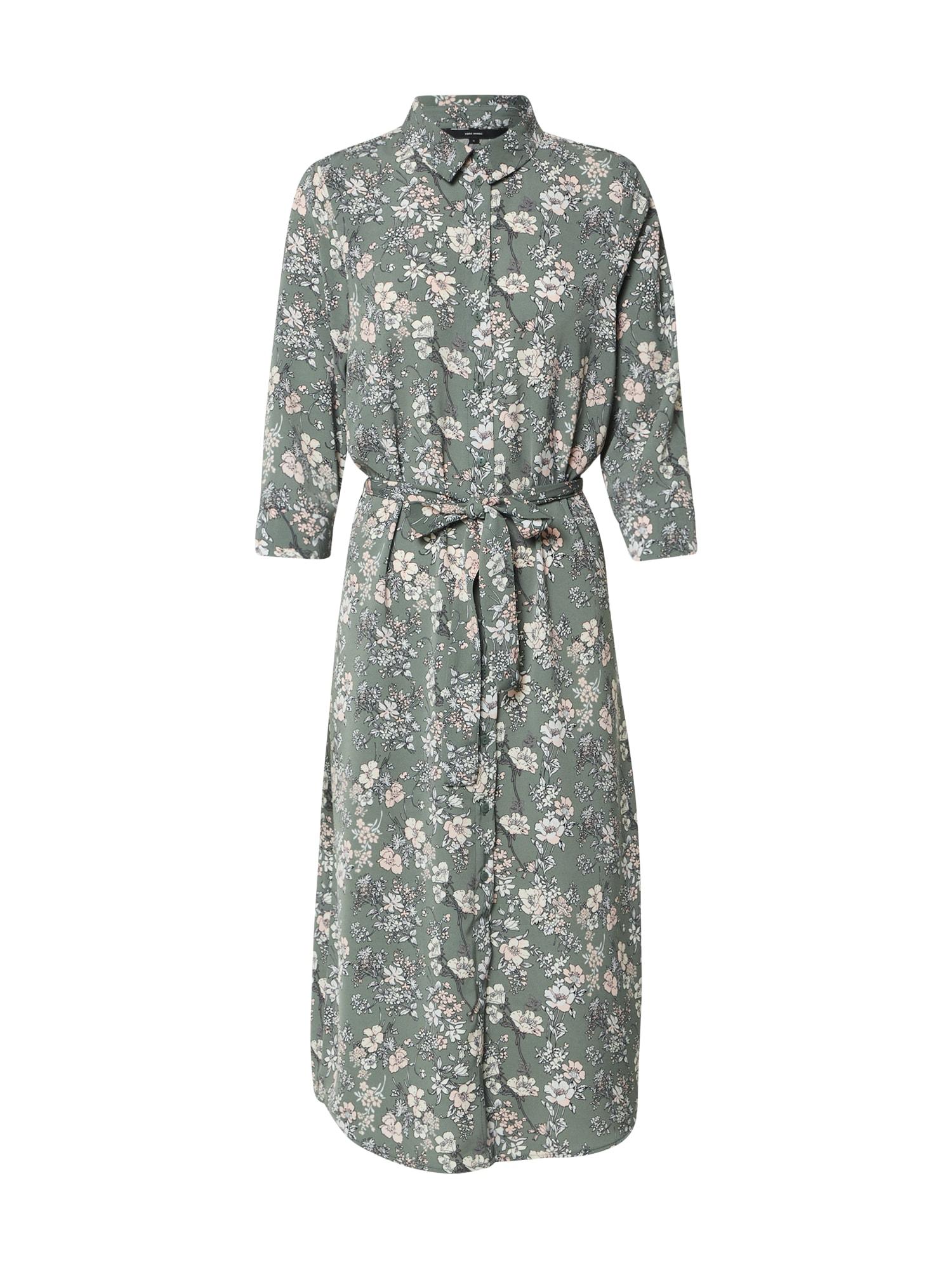 VERO MODA Košeľové šaty 'VMDIANA'  zelená